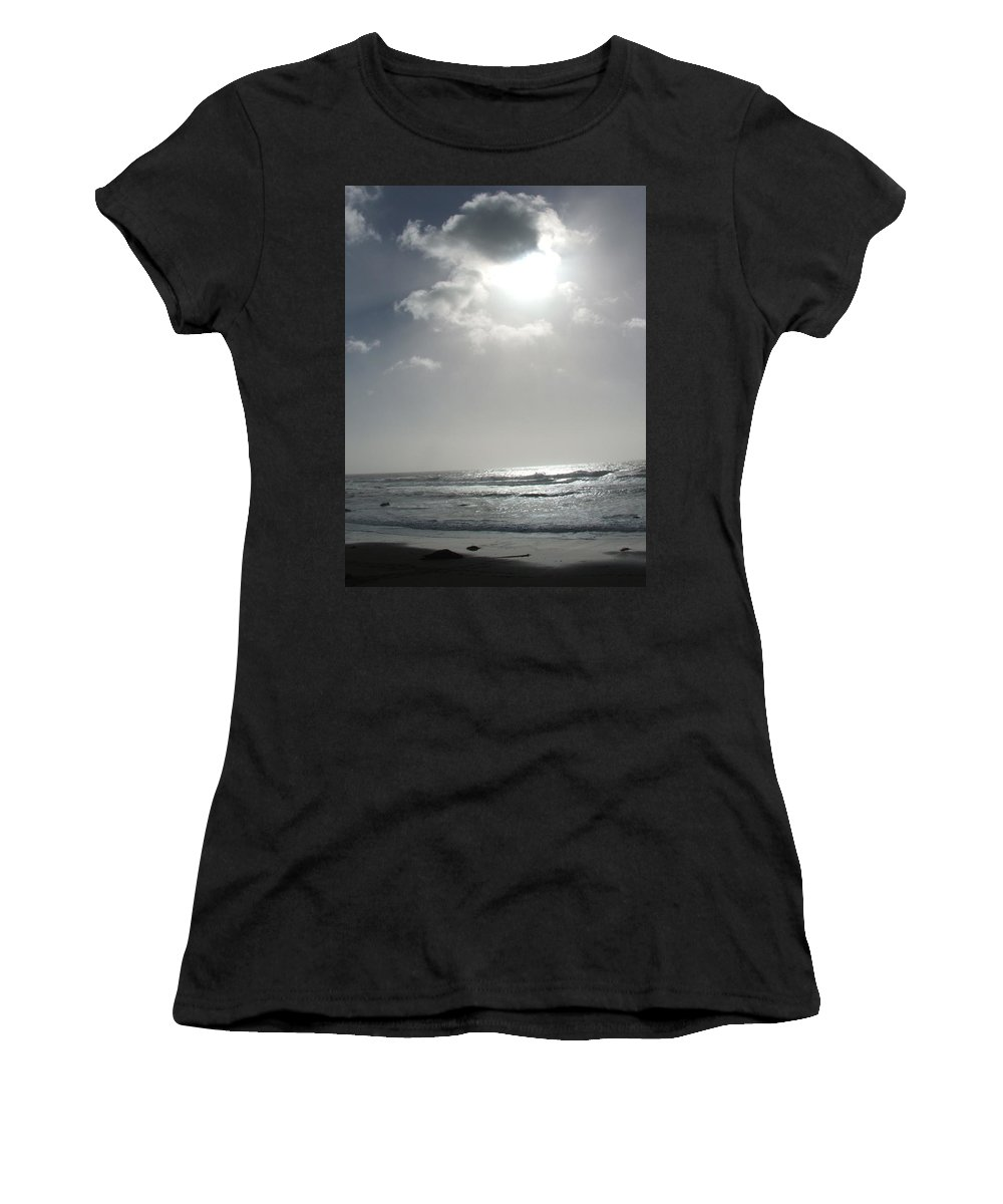 Black And White Women's T-Shirt (Athletic Fit) featuring the photograph Enlightened by Shari Chavira