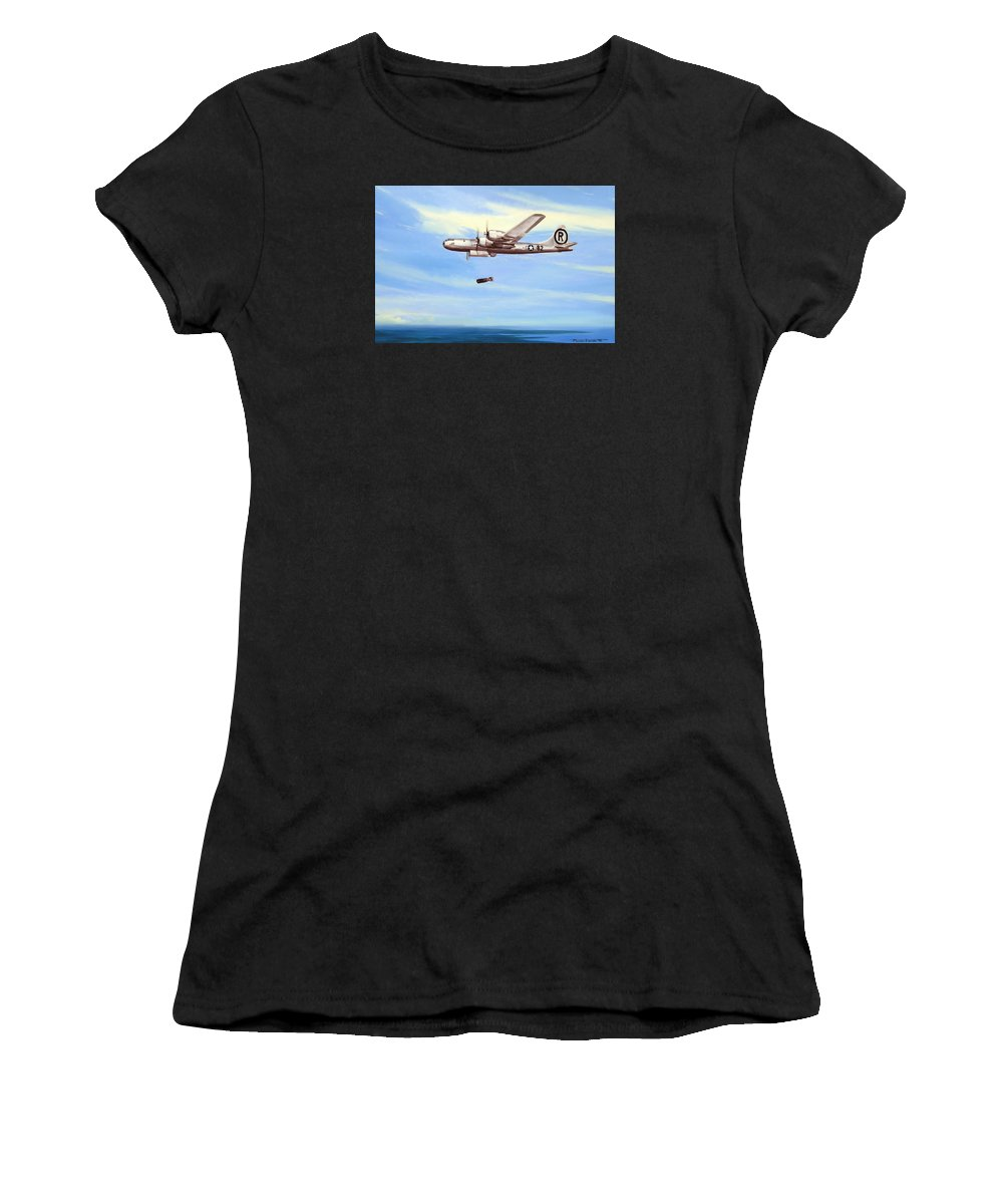 Military Women's T-Shirt (Athletic Fit) featuring the painting Enola Gay by Marc Stewart