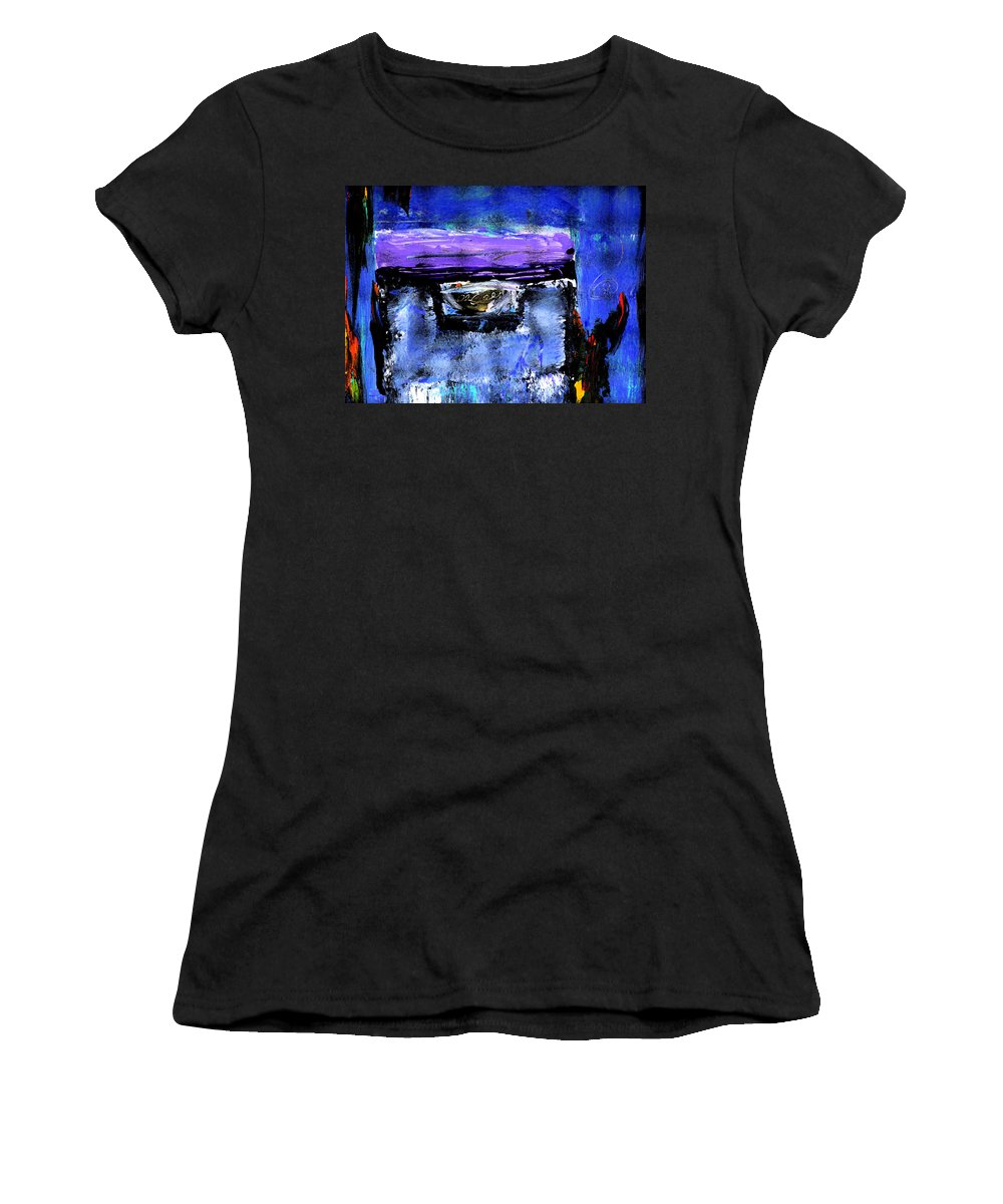 Abstract Women's T-Shirt (Athletic Fit) featuring the painting Enter by Wayne Potrafka