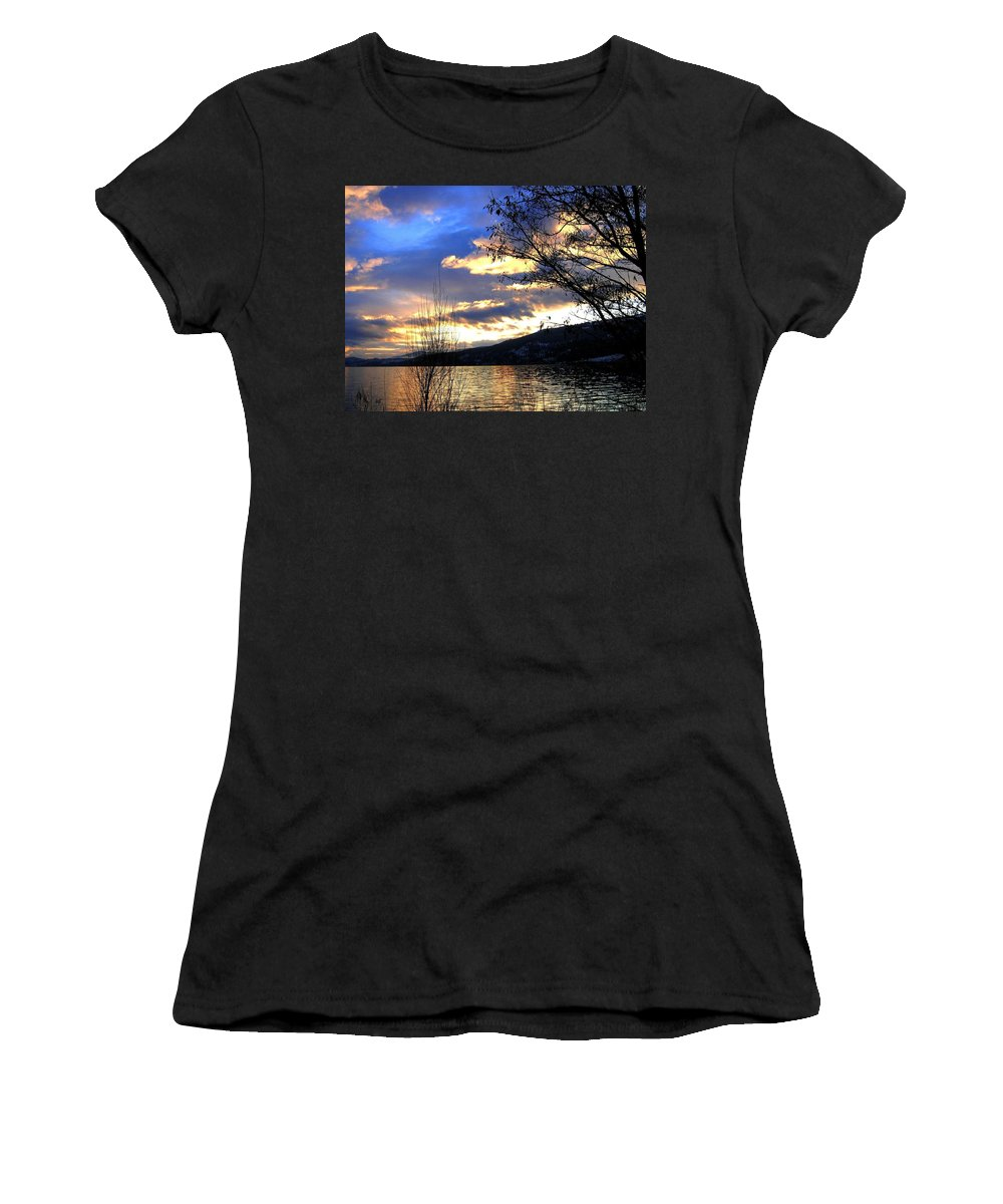 Sunset Women's T-Shirt featuring the photograph Evening Exhibition by Will Borden