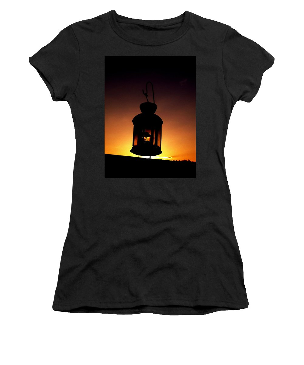 Lantern Women's T-Shirt featuring the photograph Evening Lantern by Tim Allen