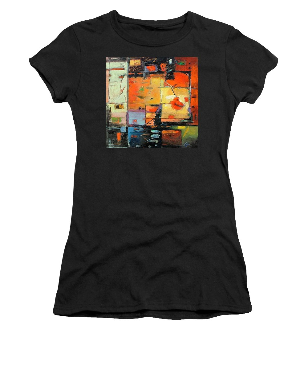 Abstract Painting Women's T-Shirt (Athletic Fit) featuring the painting Evening Light by Gary Coleman