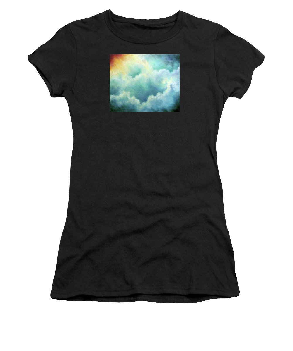 Angel Women's T-Shirt (Athletic Fit) featuring the painting Evidence Of Angels by Marina Petro