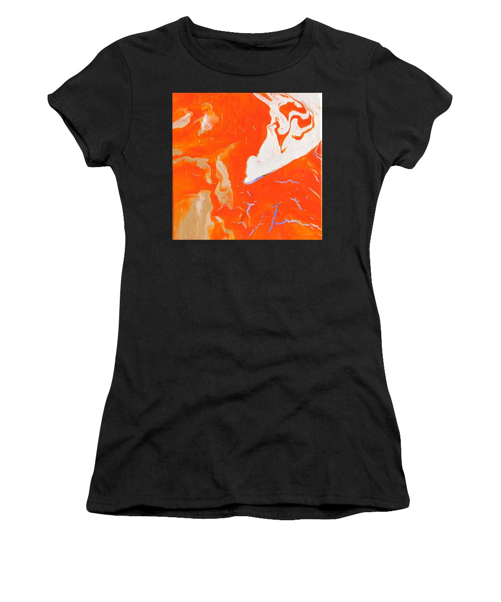 Fusionart Women's T-Shirt (Athletic Fit) featuring the painting Evidence Of Angels by Ralph White