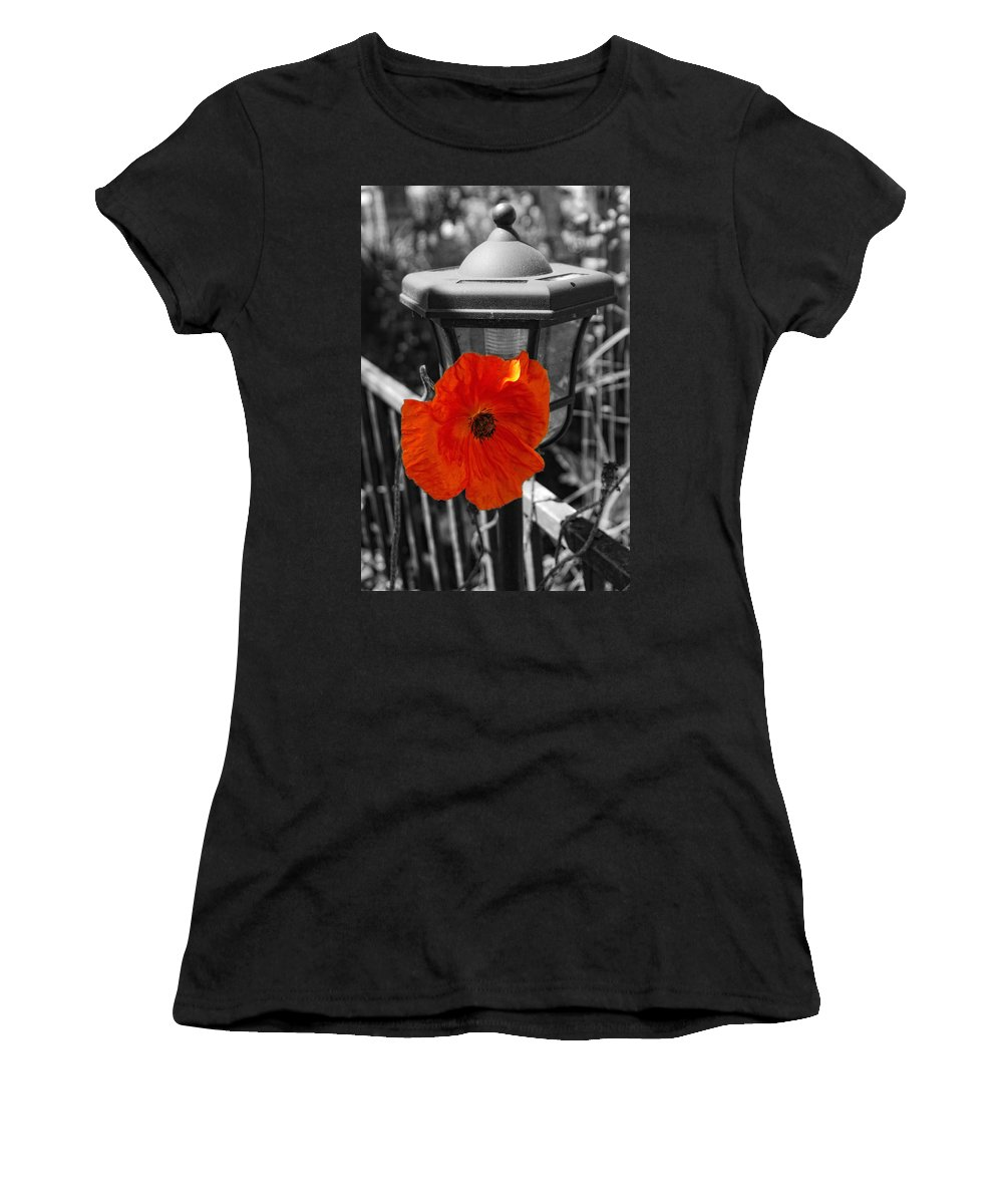 Poppy Women's T-Shirt (Athletic Fit) featuring the photograph Eye Popper by Donna Blackhall