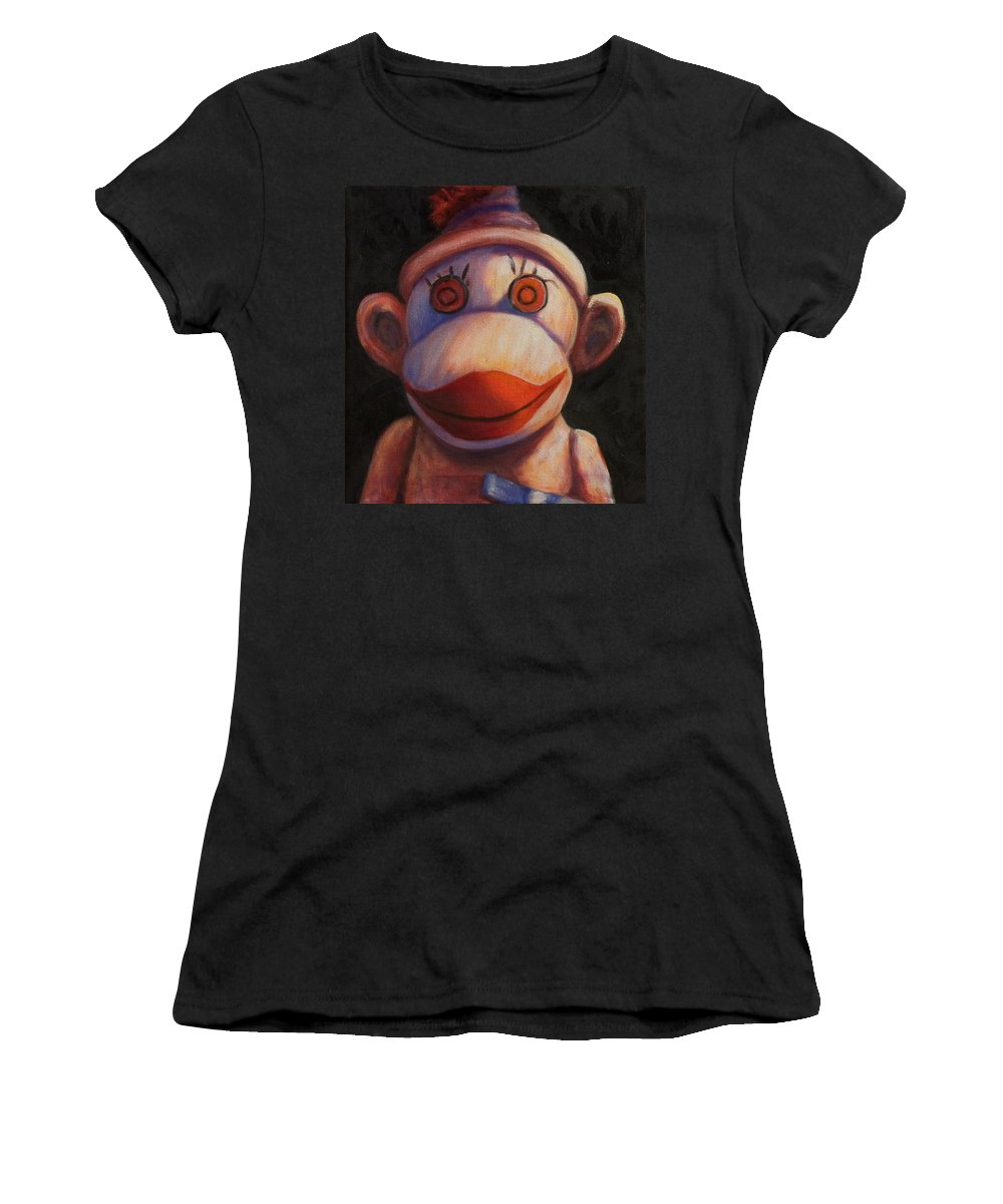 Children Women's T-Shirt (Athletic Fit) featuring the painting Face by Shannon Grissom