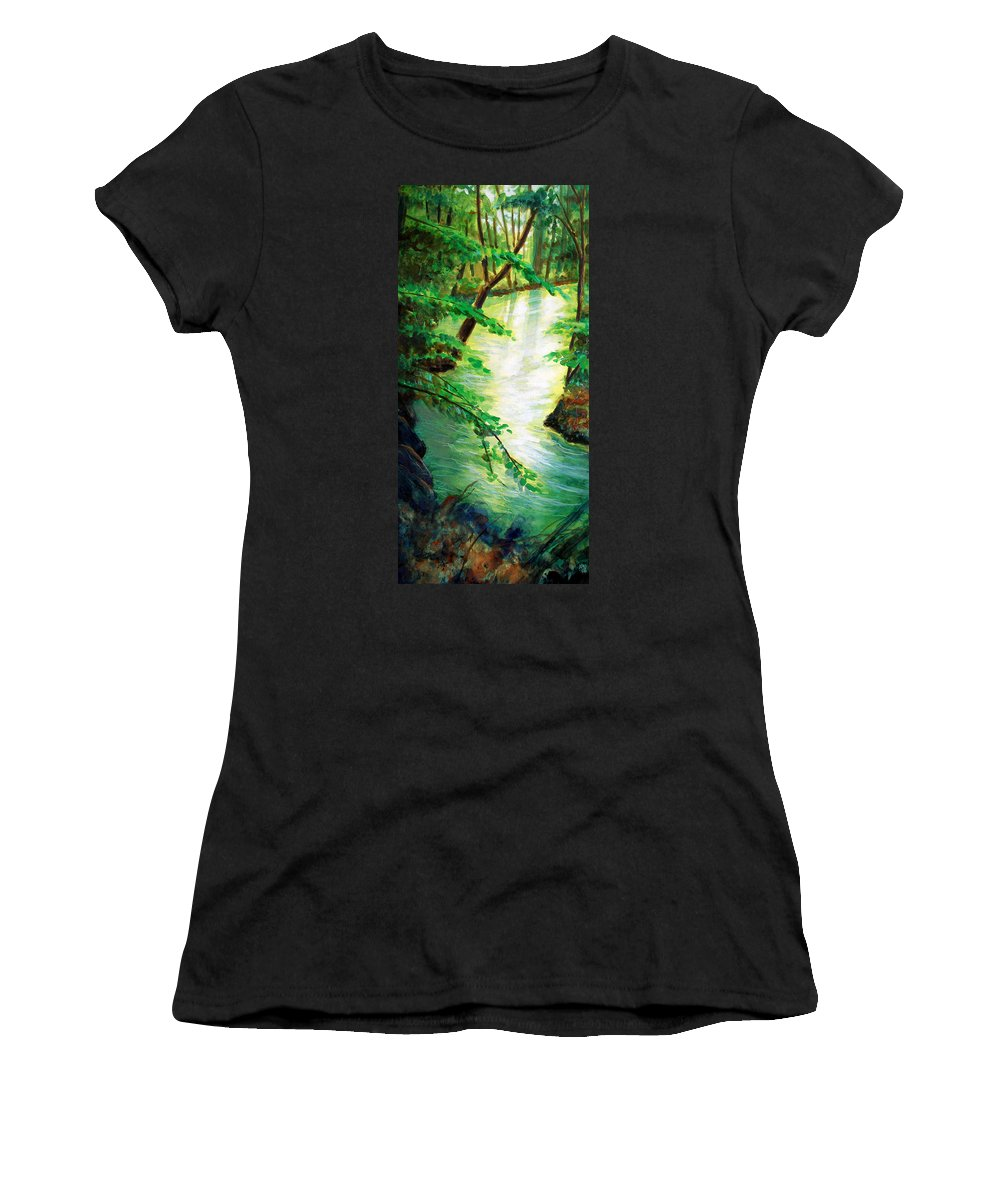 Forest Women's T-Shirt (Athletic Fit) featuring the painting Fairfax Summer by Ken Meyer