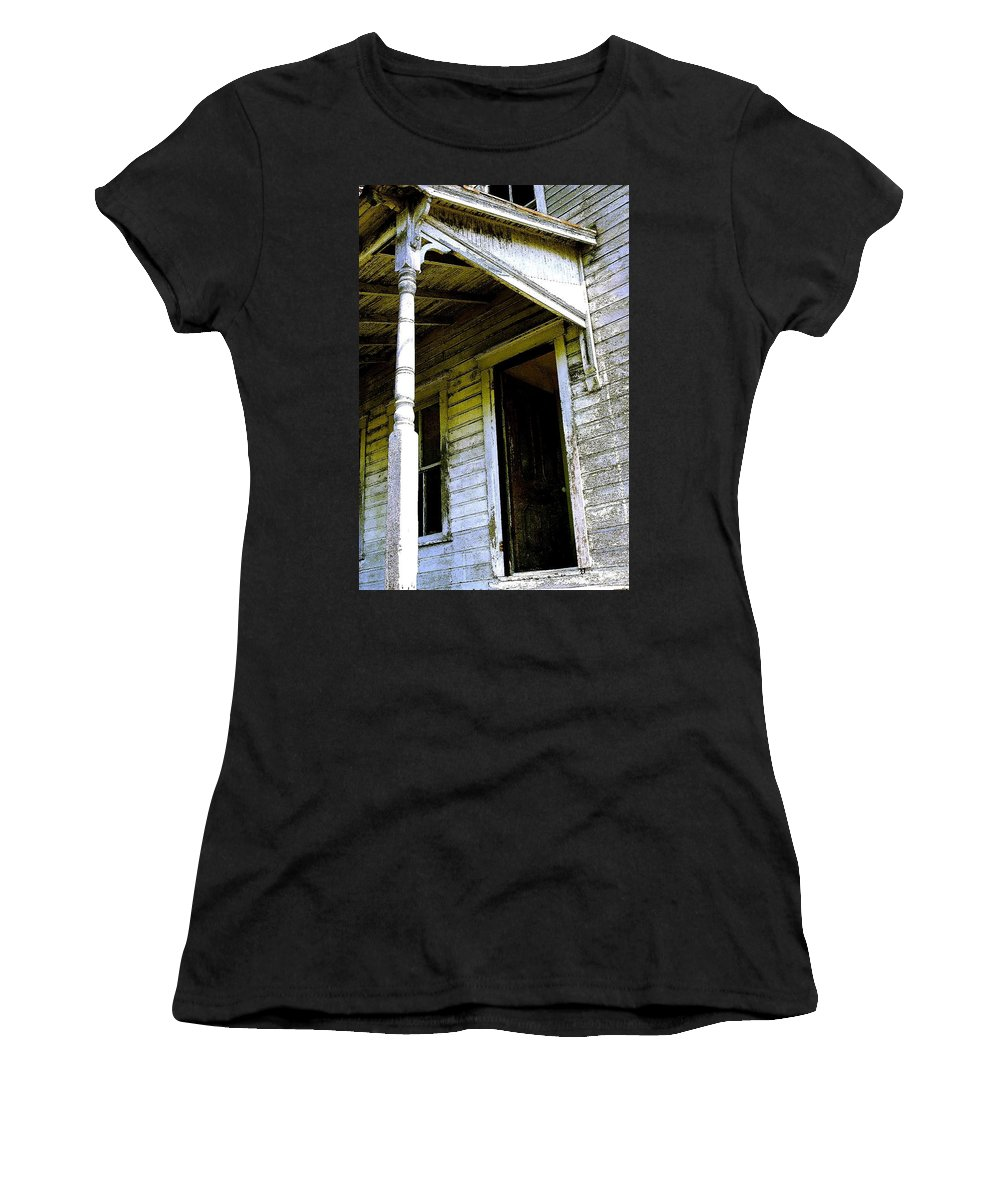 Porch Women's T-Shirt featuring the photograph Fairview Ohio - Number 1 by Nelson Strong