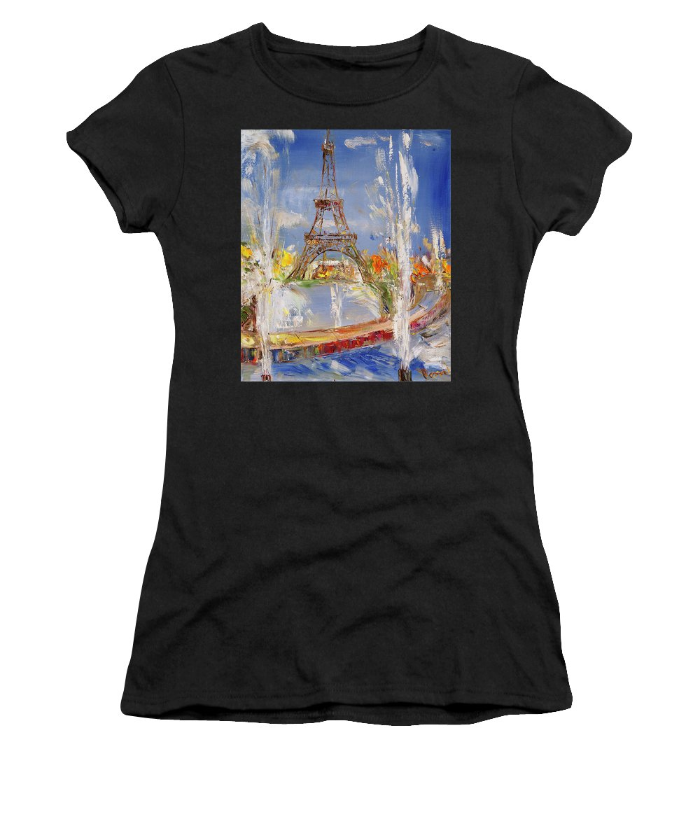 Painting Women's T-Shirt featuring the painting Fairy Tale In Reality by Romeo Smilianov