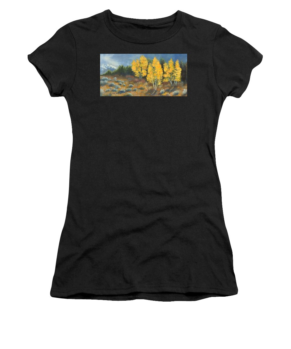 Landscape Women's T-Shirt (Athletic Fit) featuring the painting Fall Delight by Jerry McElroy