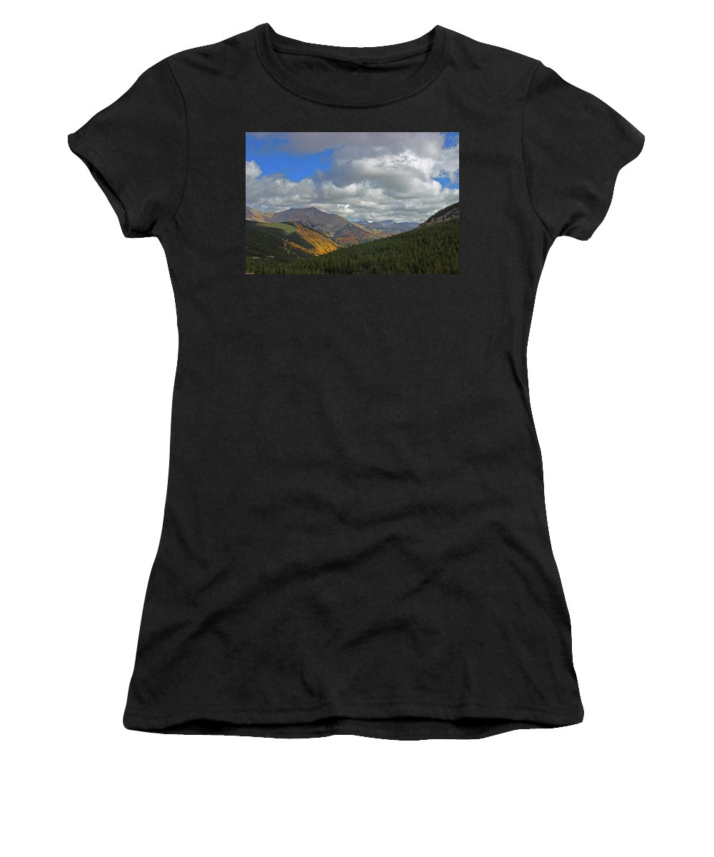 Monarch Pass Women's T-Shirt (Athletic Fit) featuring the photograph Fall On The Pass by Samantha Burrow