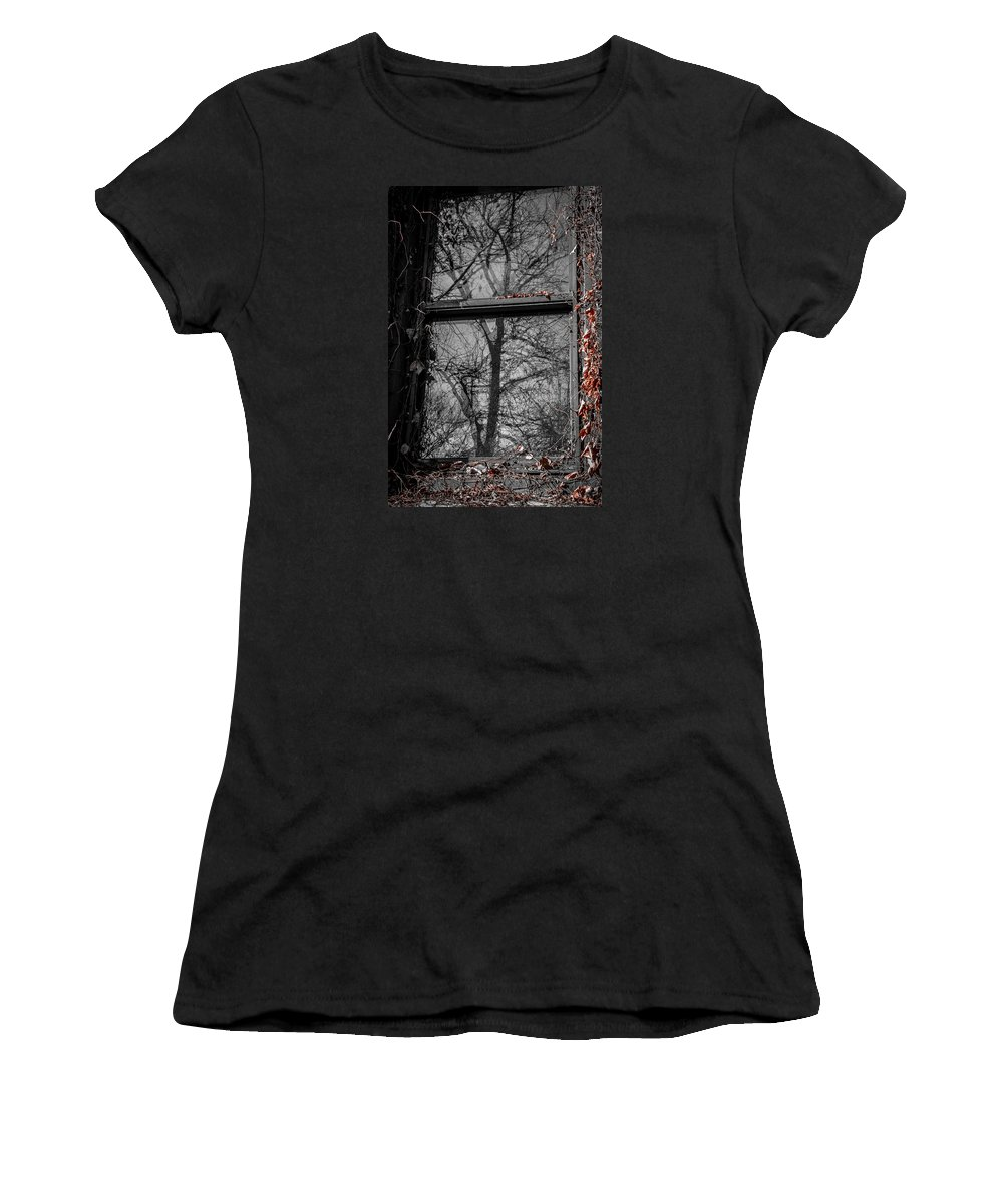 Fall Women's T-Shirt (Athletic Fit) featuring the photograph Fall Reflection by Rita Anthony