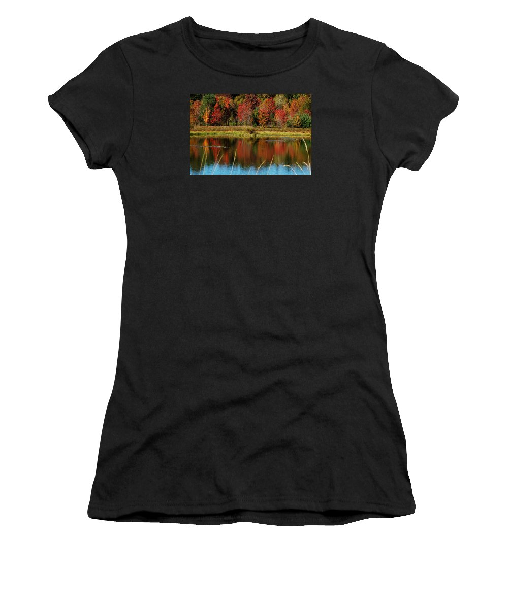 Autumn Women's T-Shirt (Athletic Fit) featuring the photograph Fall Splendor by Linda Murphy