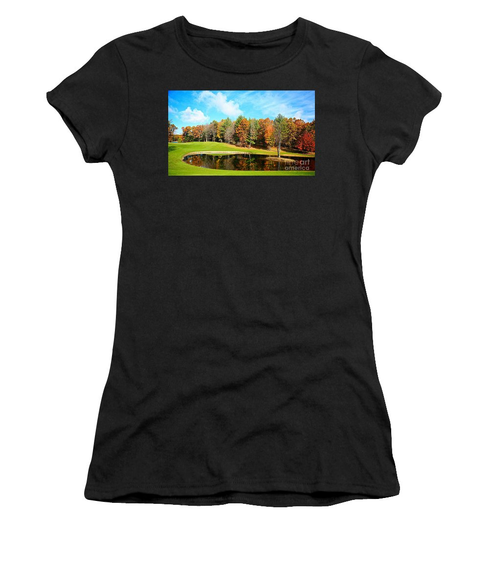 Fall Women's T-Shirt (Athletic Fit) featuring the photograph Fall Time by Robert Pearson