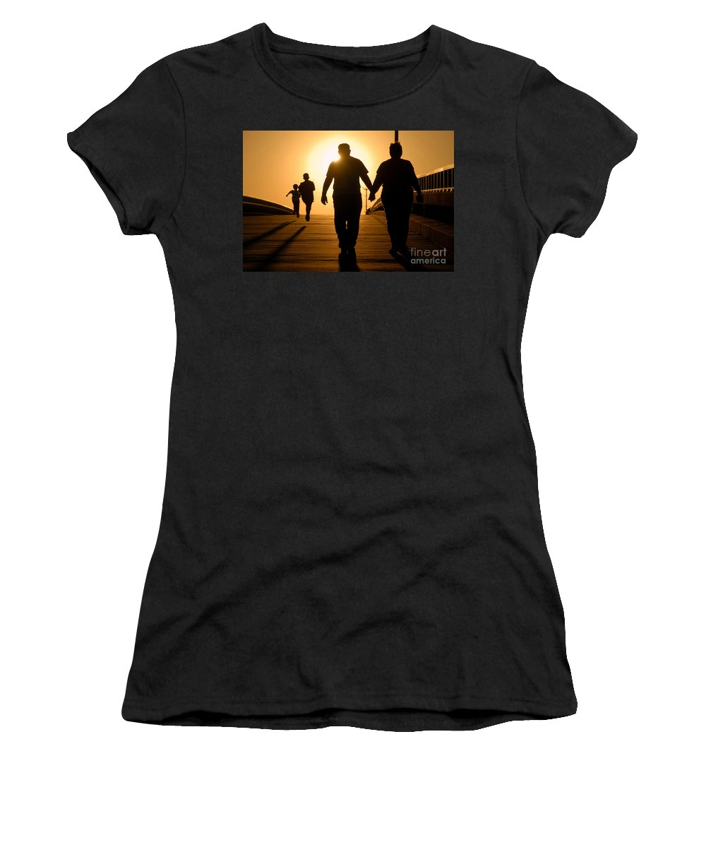 Family Women's T-Shirt (Athletic Fit) featuring the photograph Family by David Lee Thompson