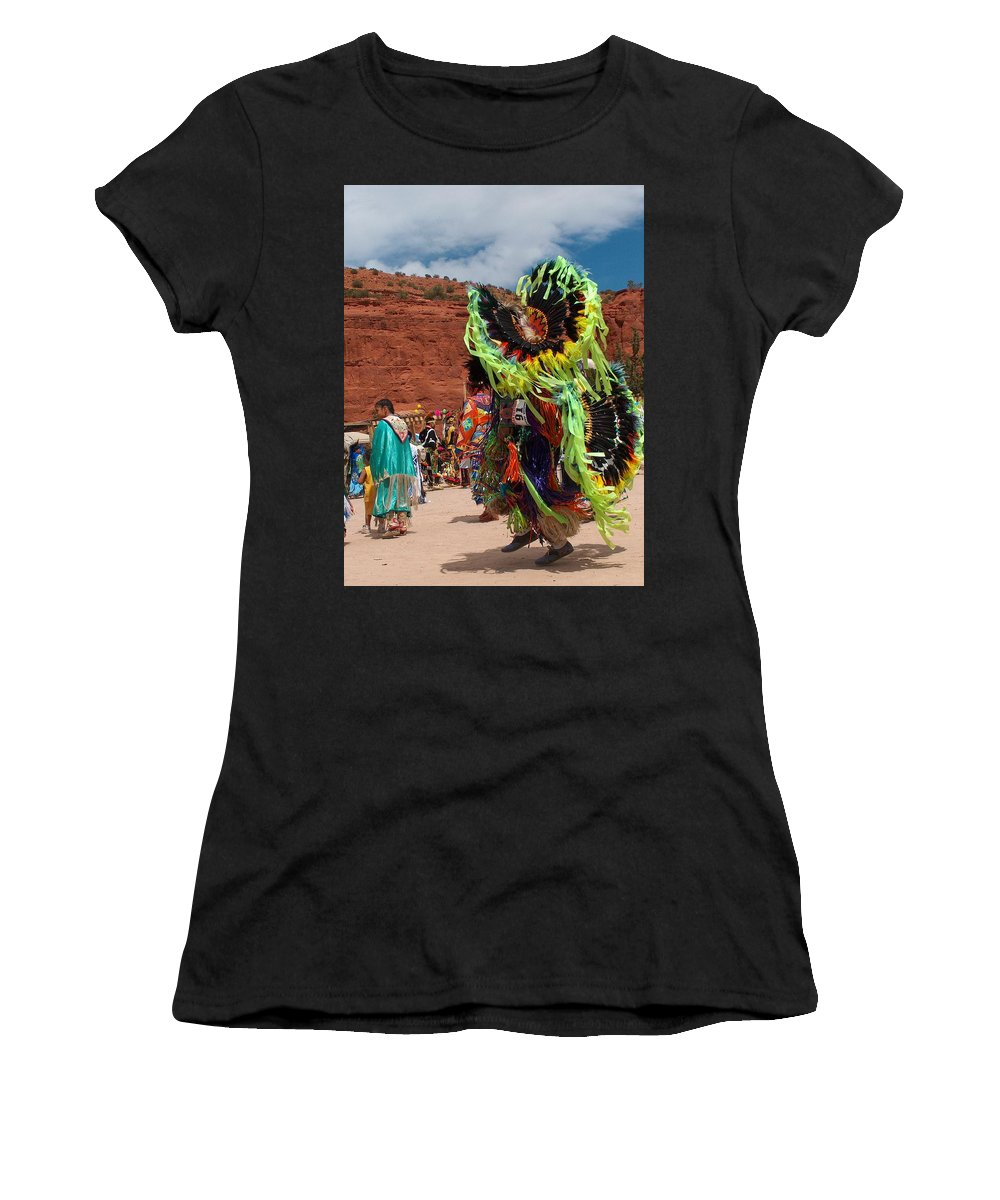 Fancy Dancer Women's T-Shirt (Athletic Fit) featuring the photograph Fancy Dancer by Tim McCarthy