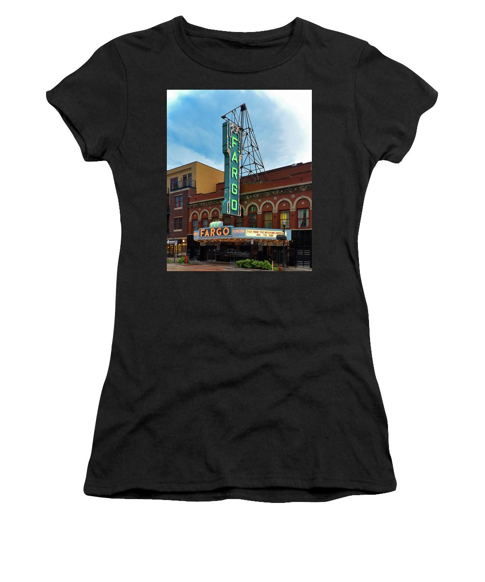 Fargo Women's T-Shirt (Athletic Fit) featuring the photograph Fargo Theater by Betsy Armour