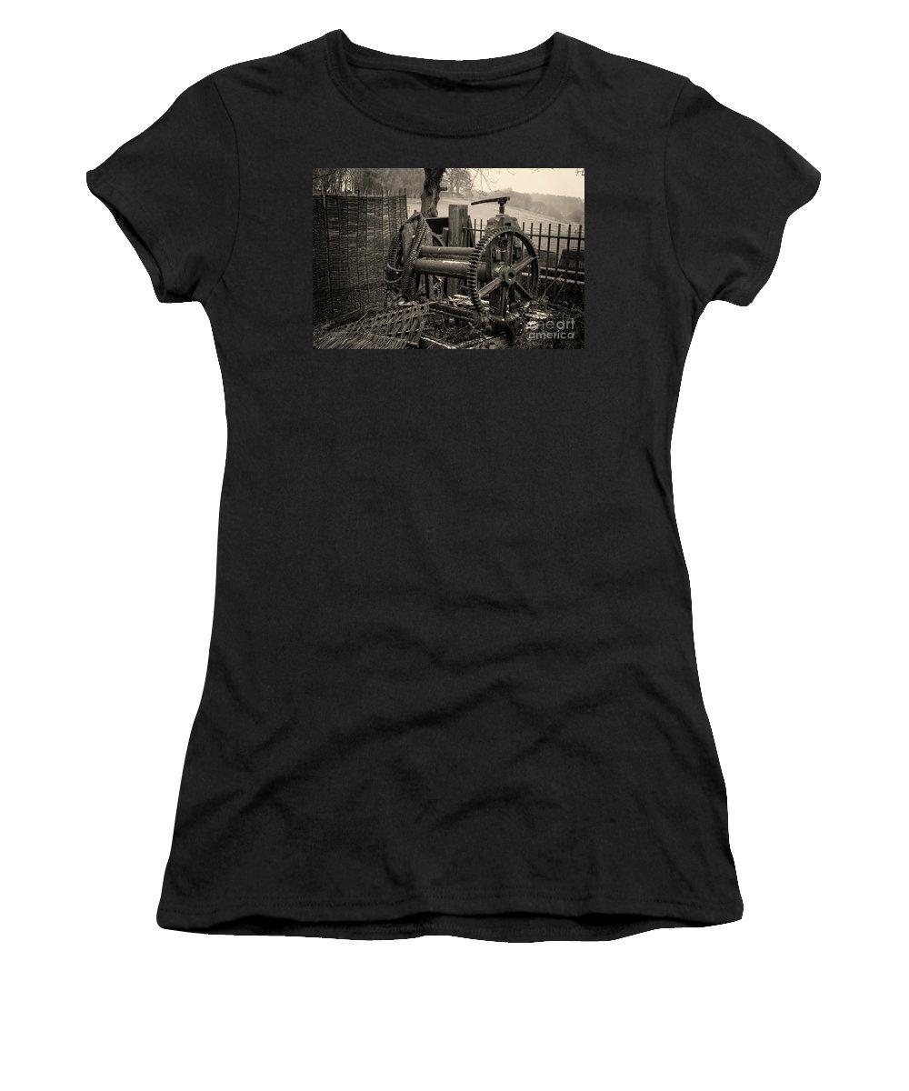 Farm Equipment Women's T-Shirt (Athletic Fit) featuring the photograph Farm Equipment Art by Doc Braham