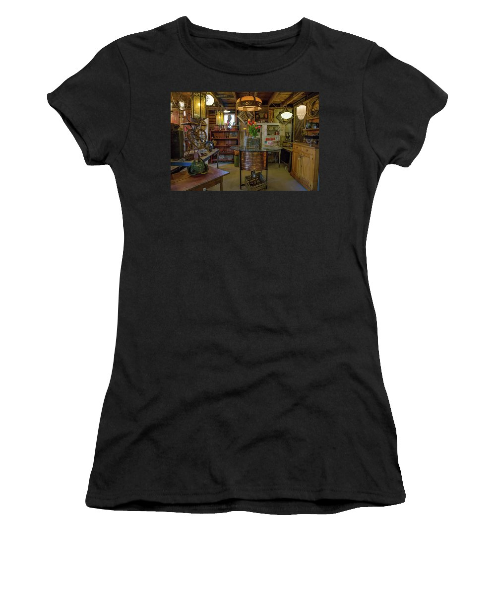 Tulips Women's T-Shirt featuring the photograph Farm House Treasures by Cindi Poole