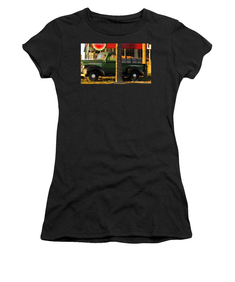 Farmers Market Women's T-Shirt (Athletic Fit) featuring the photograph Farmers Market by David Lee Thompson
