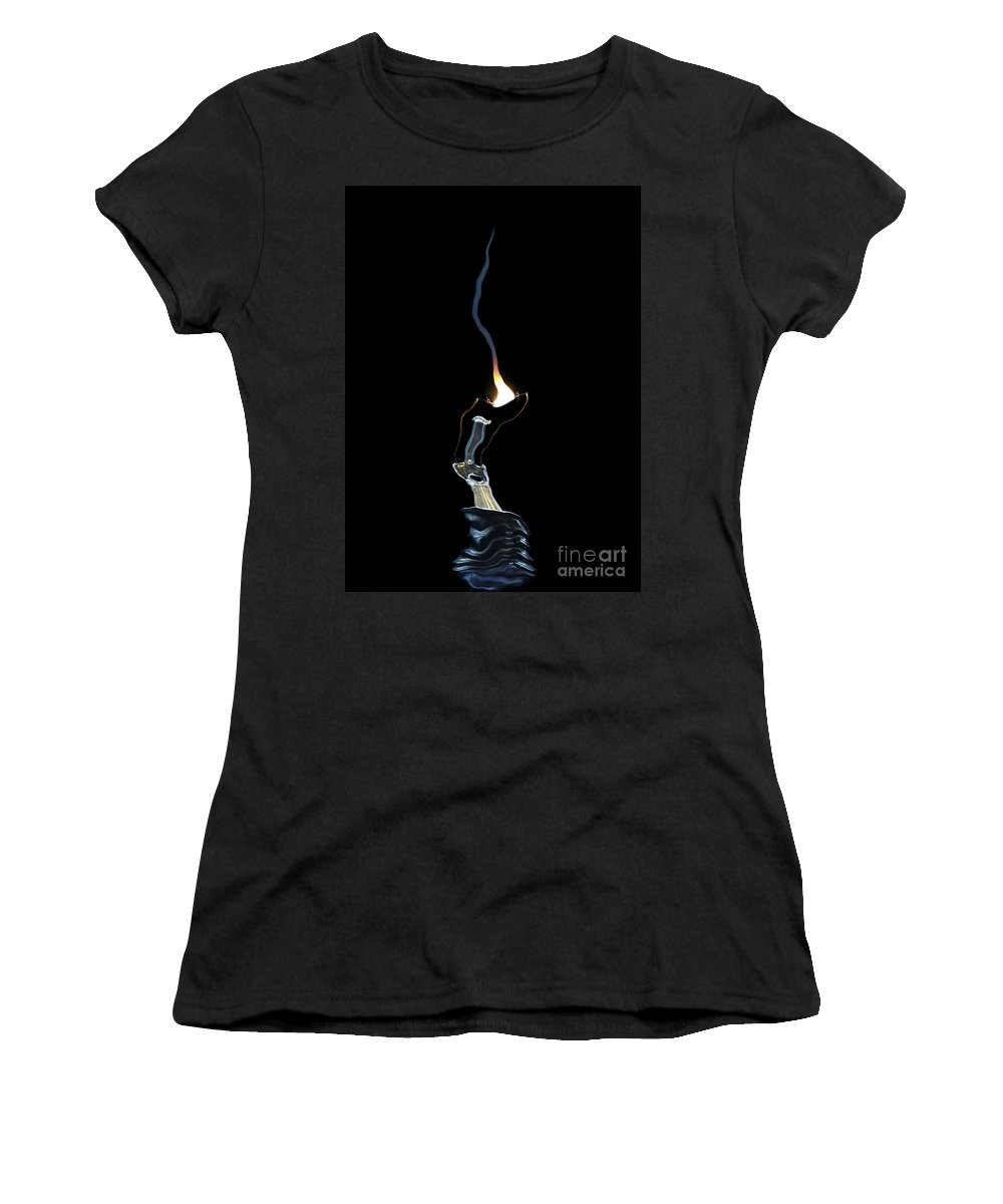 Bulb Women's T-Shirt (Athletic Fit) featuring the digital art Fault by Michal Boubin