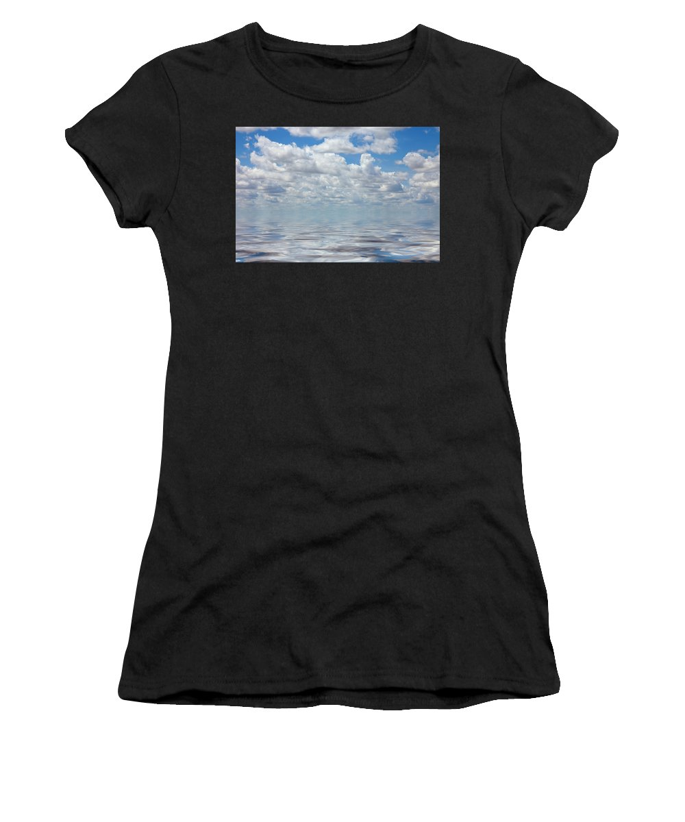 Cloud Women's T-Shirt (Athletic Fit) featuring the photograph Featherly by Jerry McElroy