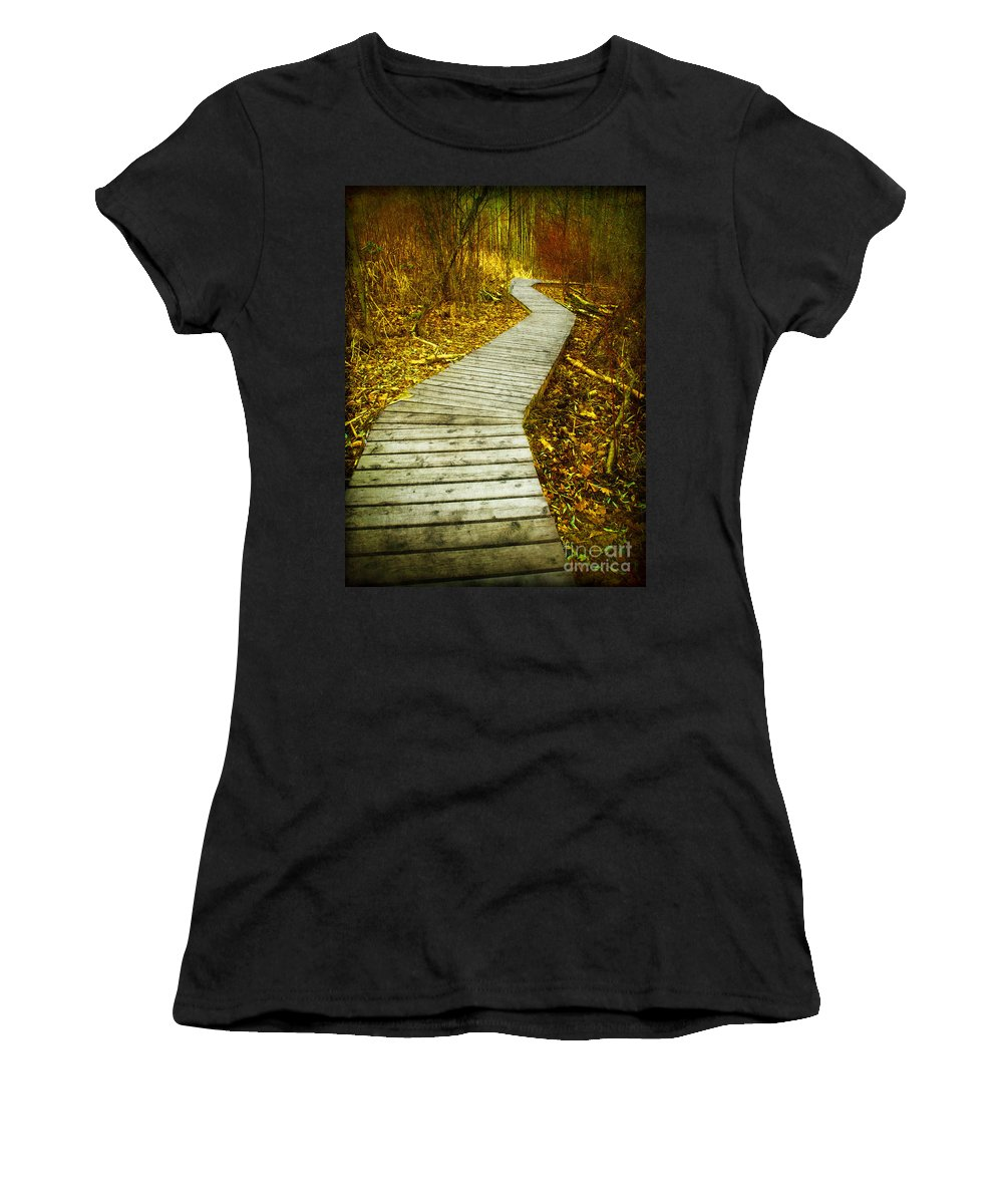 Boarwalk Women's T-Shirt (Athletic Fit) featuring the photograph February 9 2010 by Tara Turner