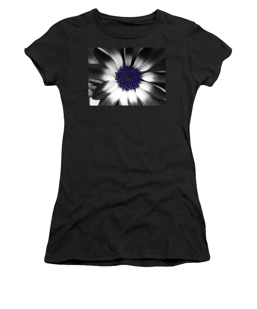 Floral Women's T-Shirt (Athletic Fit) featuring the photograph Feeling Blue by Marla McFall