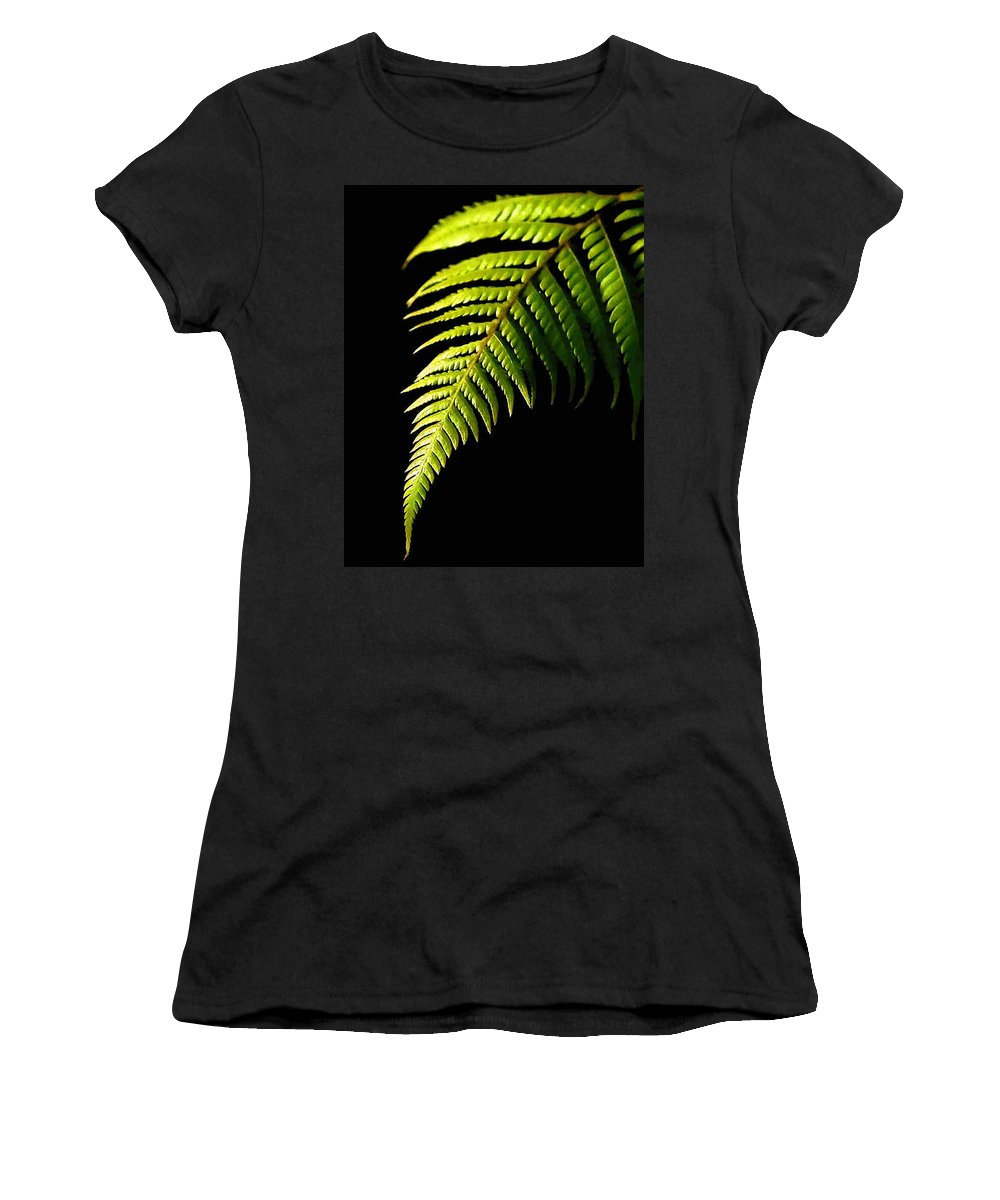 Fern Women's T-Shirt (Athletic Fit) featuring the photograph Fern by Dragica Micki Fortuna