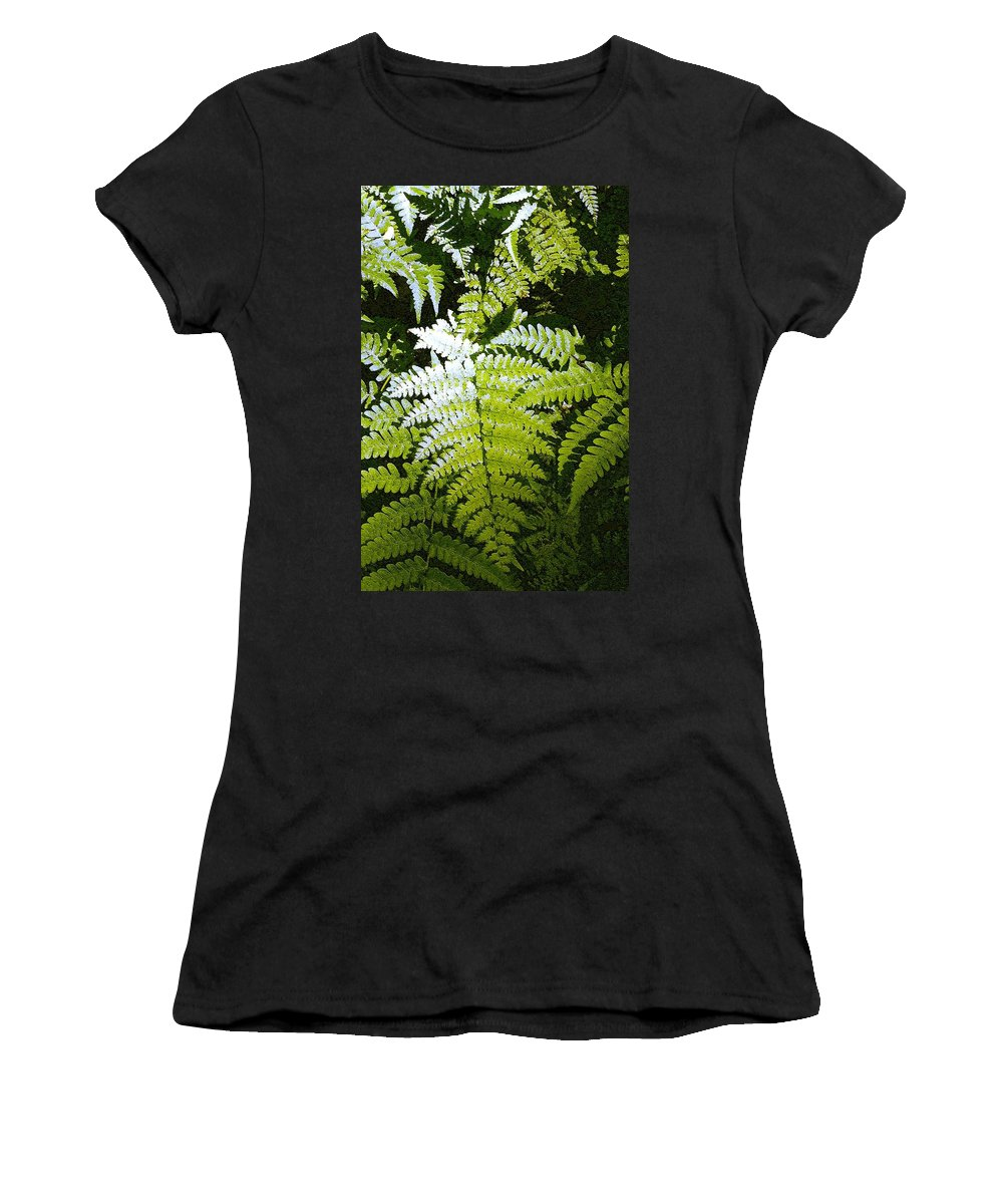 Ferns Women's T-Shirt (Athletic Fit) featuring the photograph Ferns by Nelson Strong