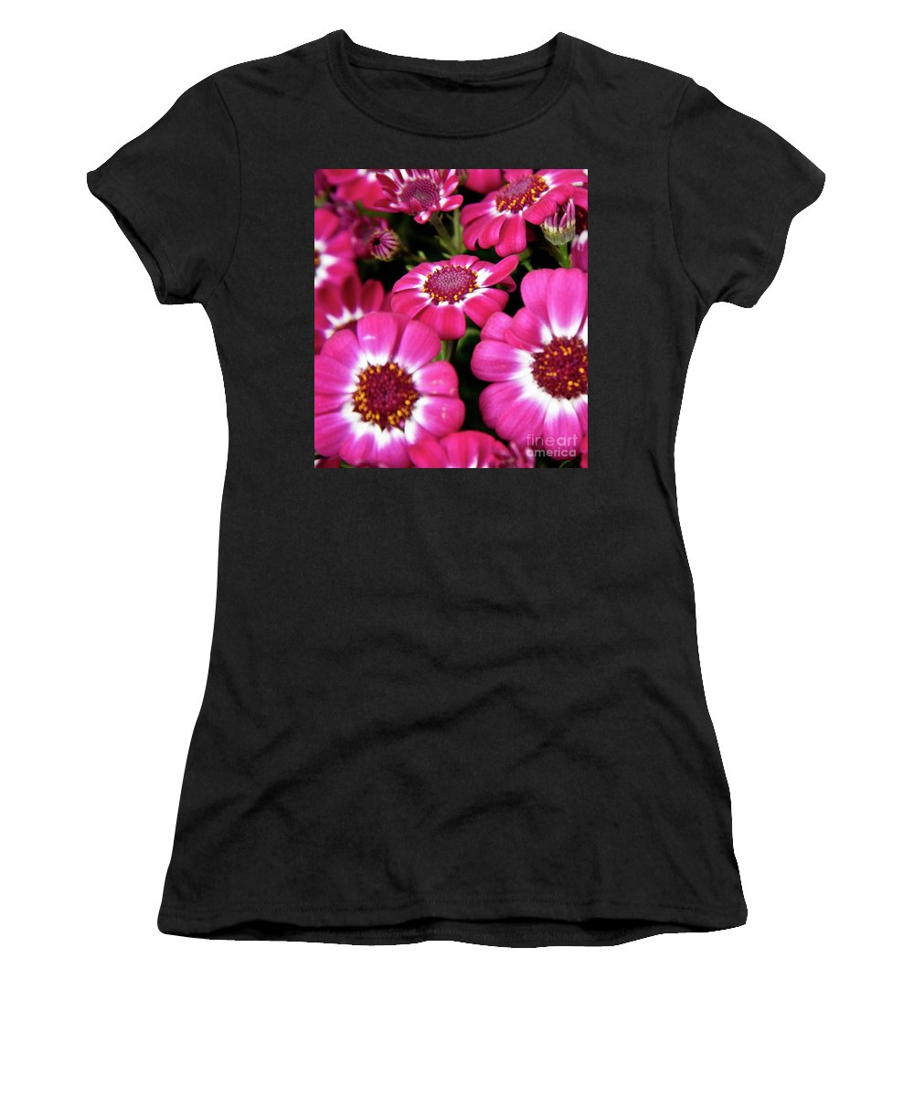 Flowers Women's T-Shirt (Athletic Fit) featuring the digital art Field Of Flowers by Sobano S