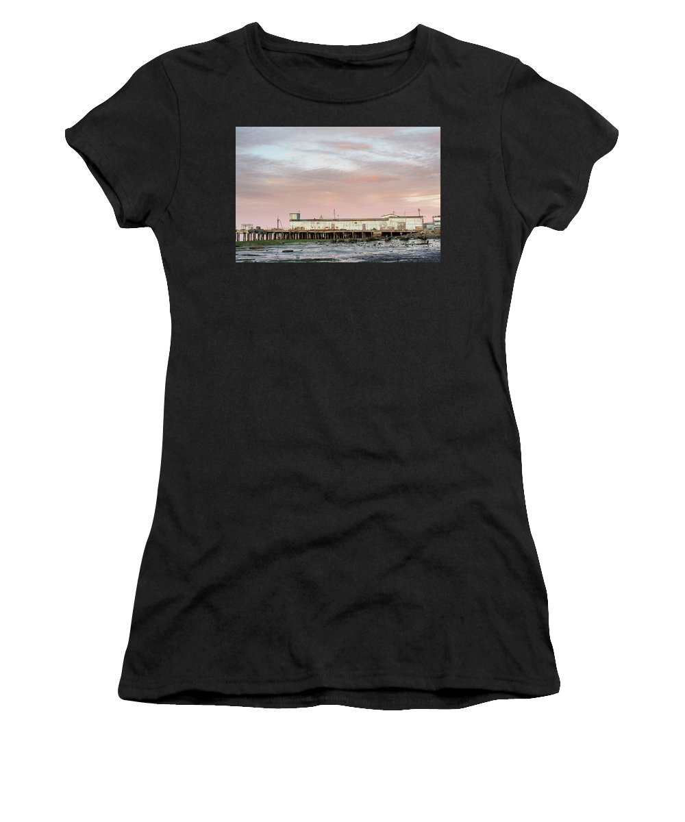 Humboldt Bay Women's T-Shirt (Athletic Fit) featuring the photograph Field's Landing by Greg Nyquist