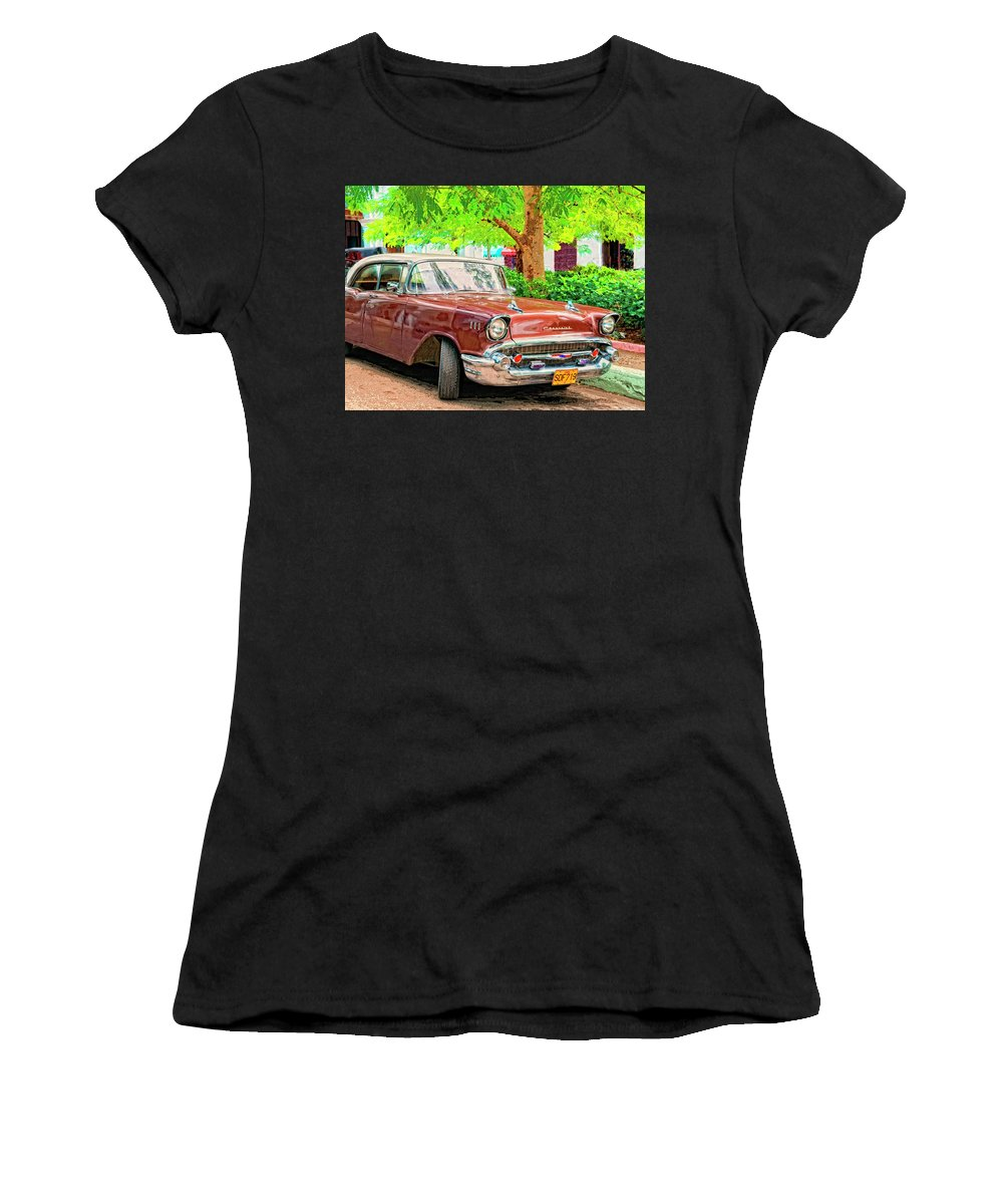 Fifty Seven Women's T-Shirt (Athletic Fit) featuring the mixed media Fifty Seven by Dominic Piperata