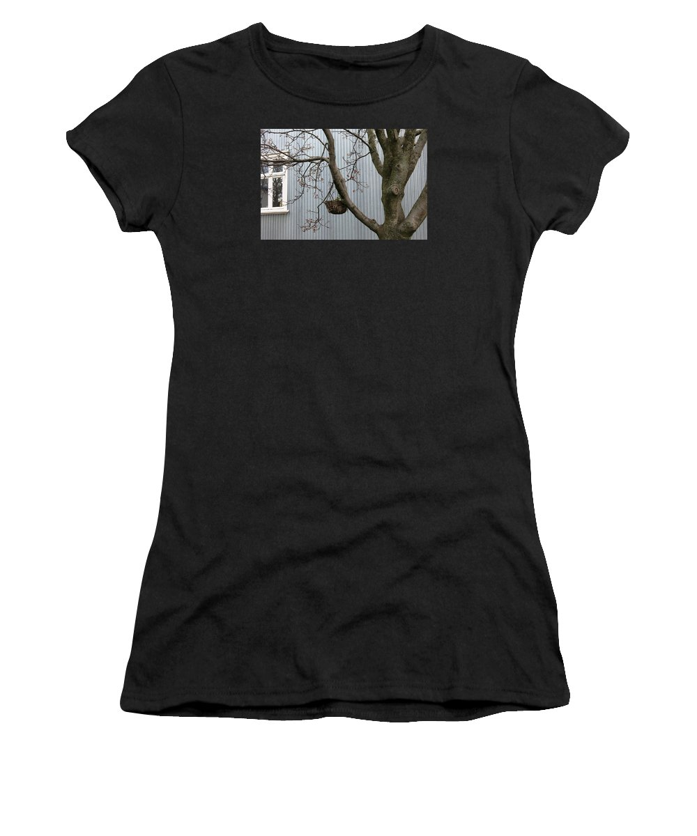Iceland Women's T-Shirt (Athletic Fit) featuring the photograph Filigree Tree by Dromore Photography