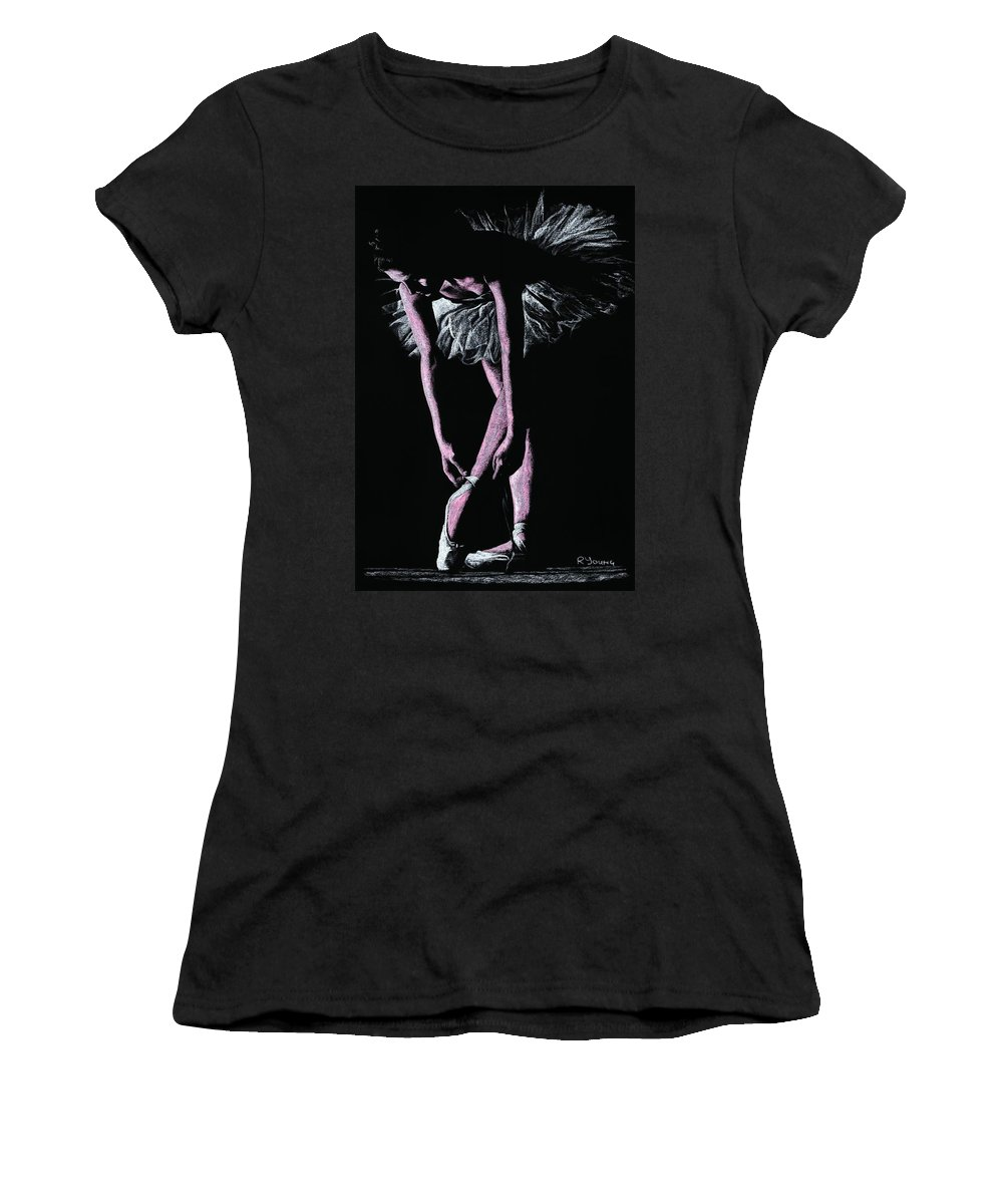 Dancer Women's T-Shirt featuring the pastel Final Adjustments by Richard Young