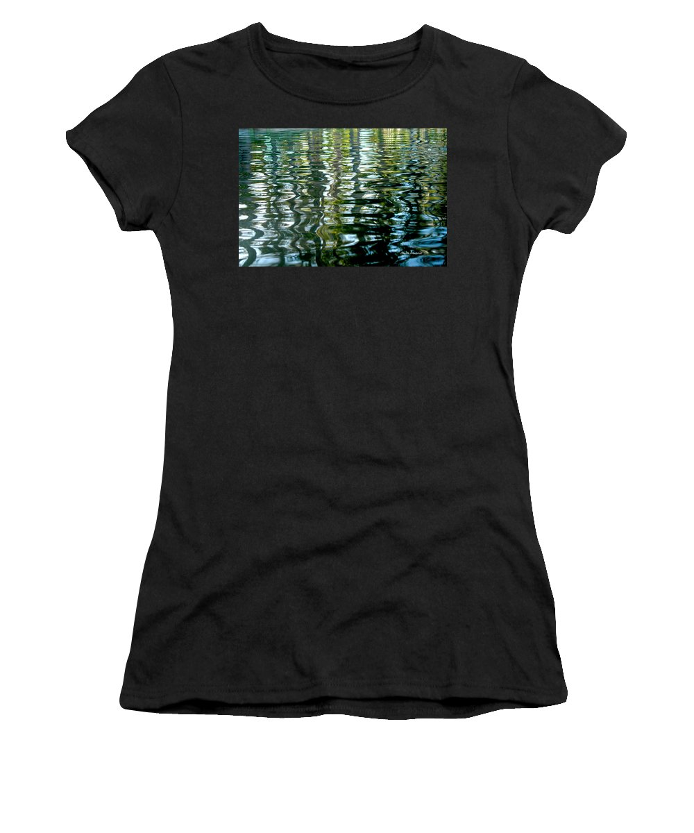 Water Women's T-Shirt (Athletic Fit) featuring the photograph Finger Painting by Donna Blackhall