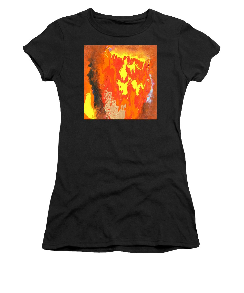 Fire Women's T-Shirt (Athletic Fit) featuring the painting Fire by Ralph White