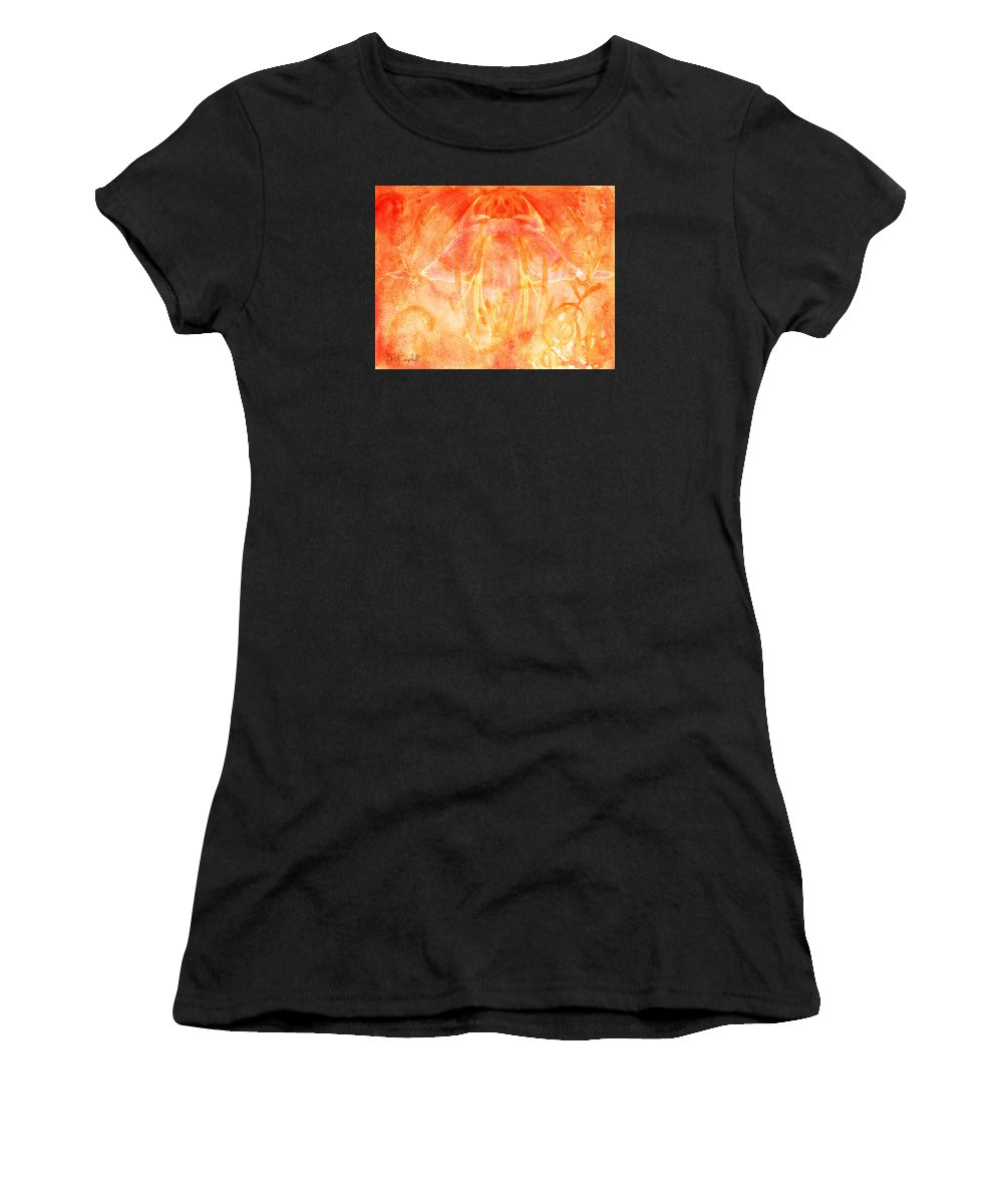 Women's T-Shirt (Athletic Fit) featuring the digital art Fire Spirit by Theresa Campbell