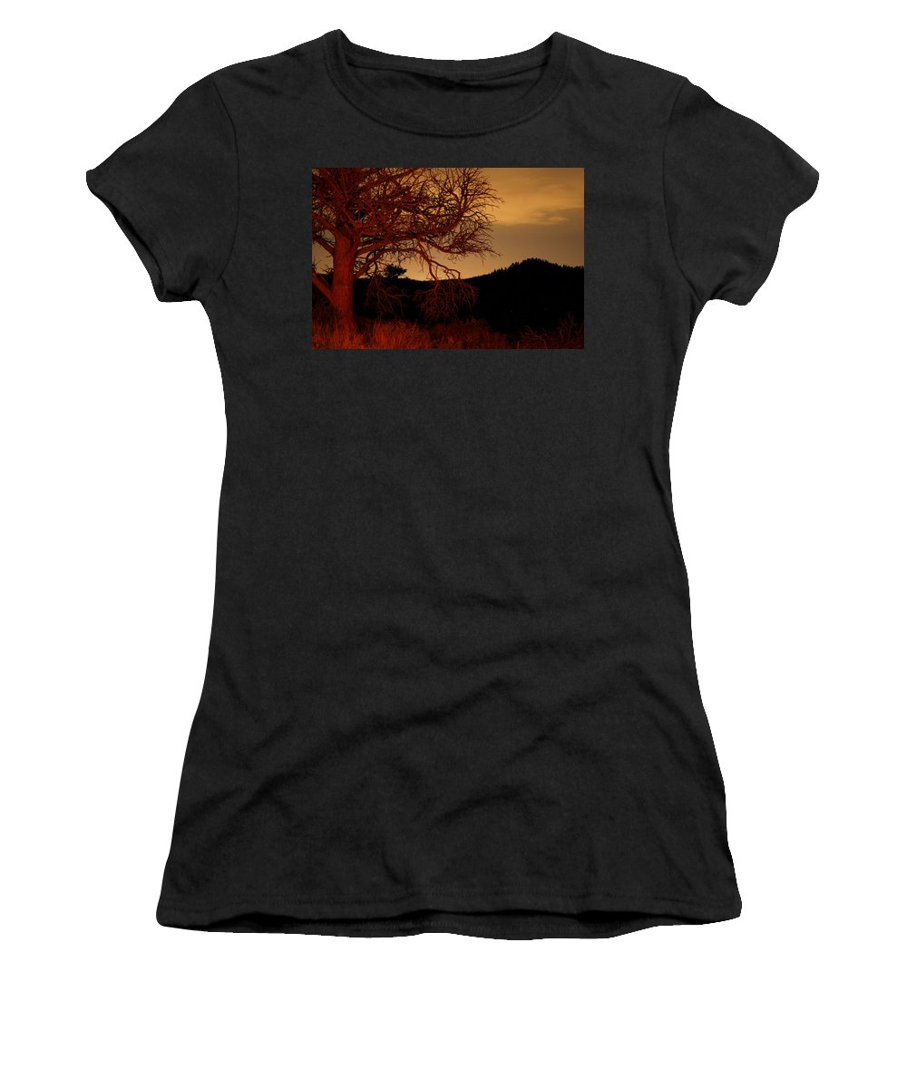 Landscape Women's T-Shirt featuring the photograph Fire Tree by Jeffery Ball