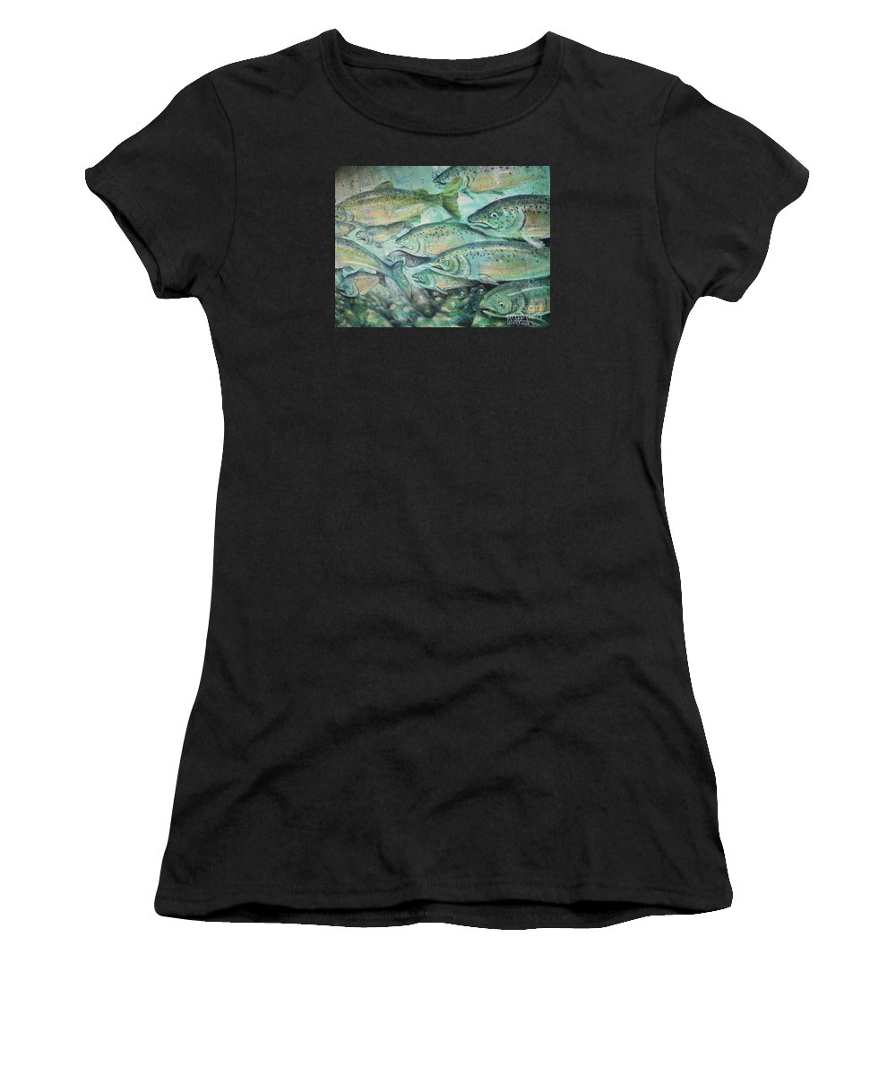 Fish Women's T-Shirt featuring the photograph Fish On The Wall by Vesna Antic