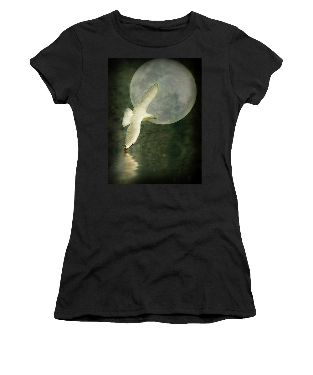Art Women's T-Shirt (Athletic Fit) featuring the photograph Flight by Kym Clarke