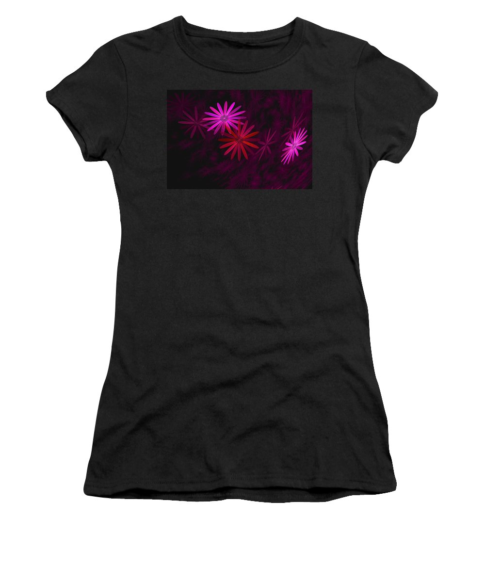 Fantasy Women's T-Shirt featuring the digital art Floating Floral - 006 by David Lane