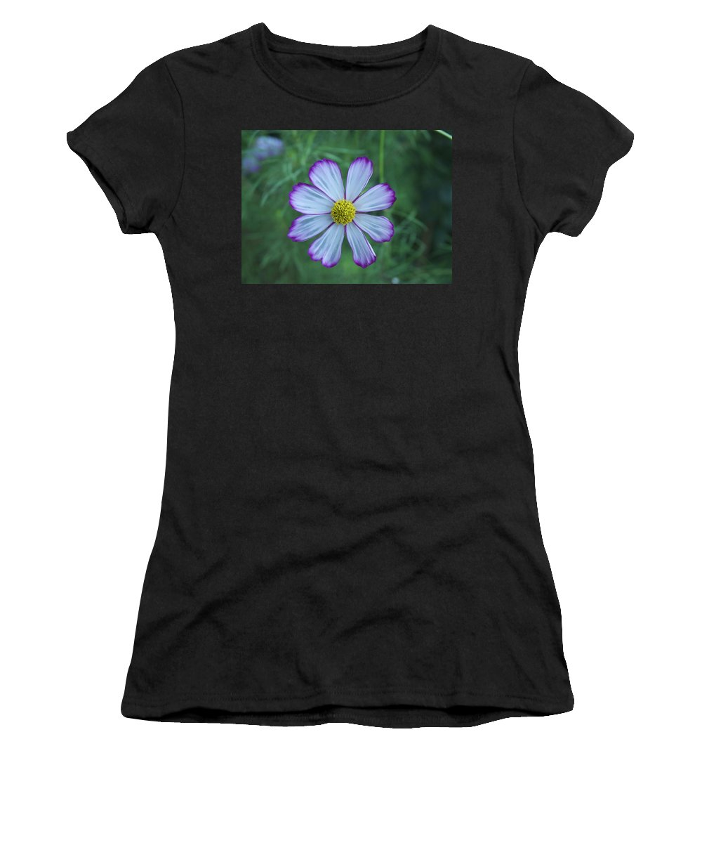 Women's T-Shirt (Athletic Fit) featuring the photograph Floating Flower by Barry Glick