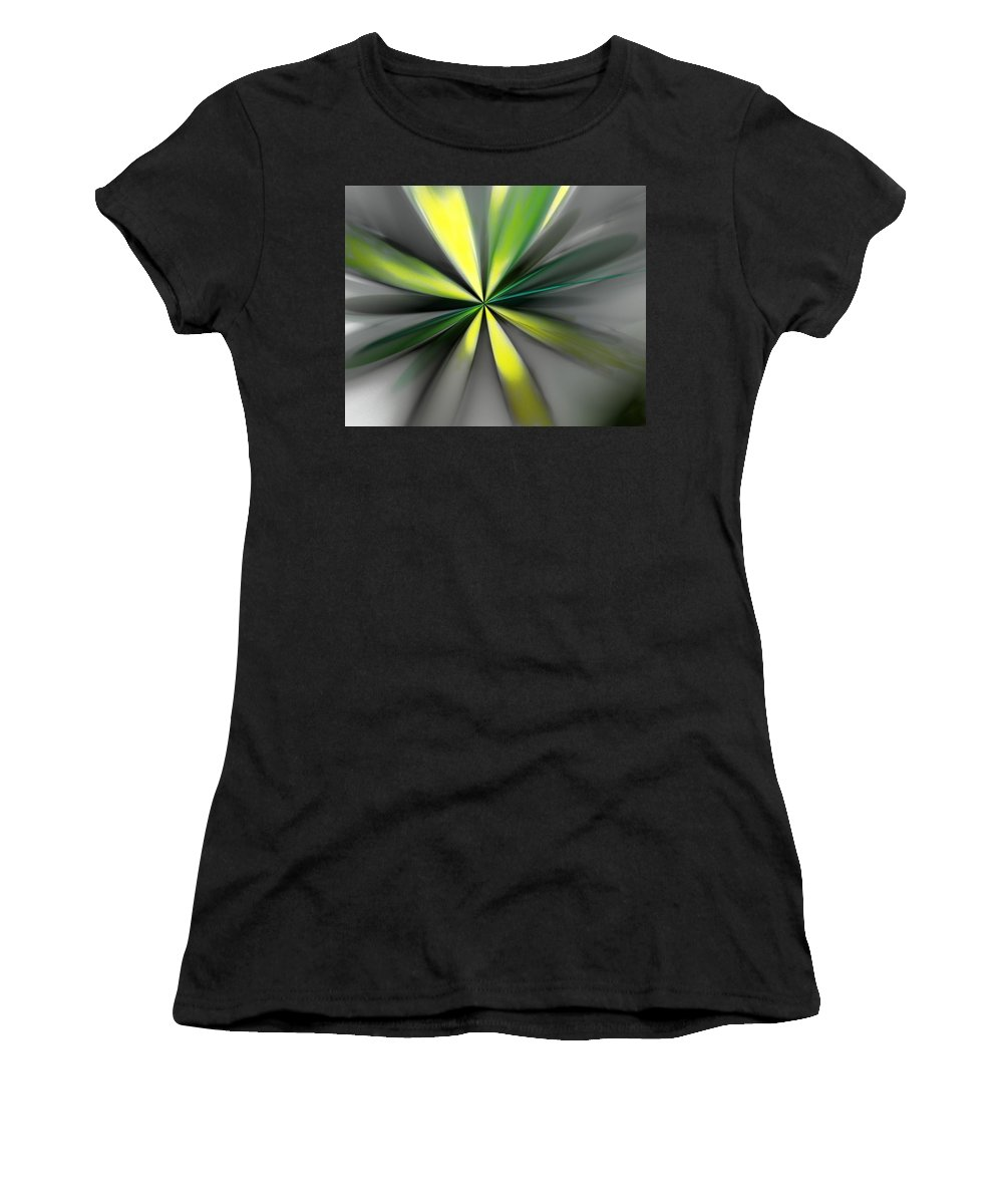 Digital Painting Women's T-Shirt (Athletic Fit) featuring the digital art Floral 2-19-19 by David Lane