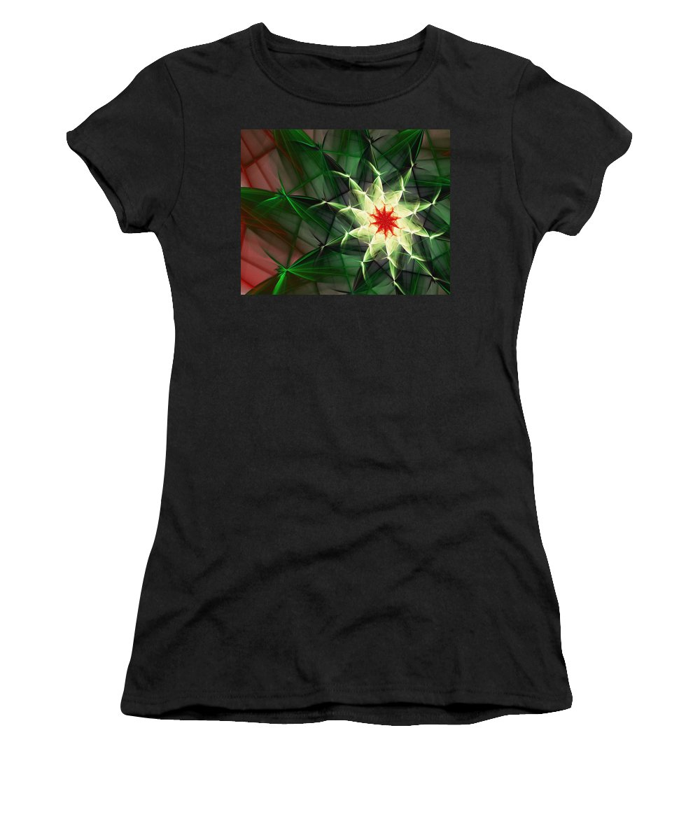 Digital Painting Women's T-Shirt (Athletic Fit) featuring the digital art Floral Expressions 4 by David Lane