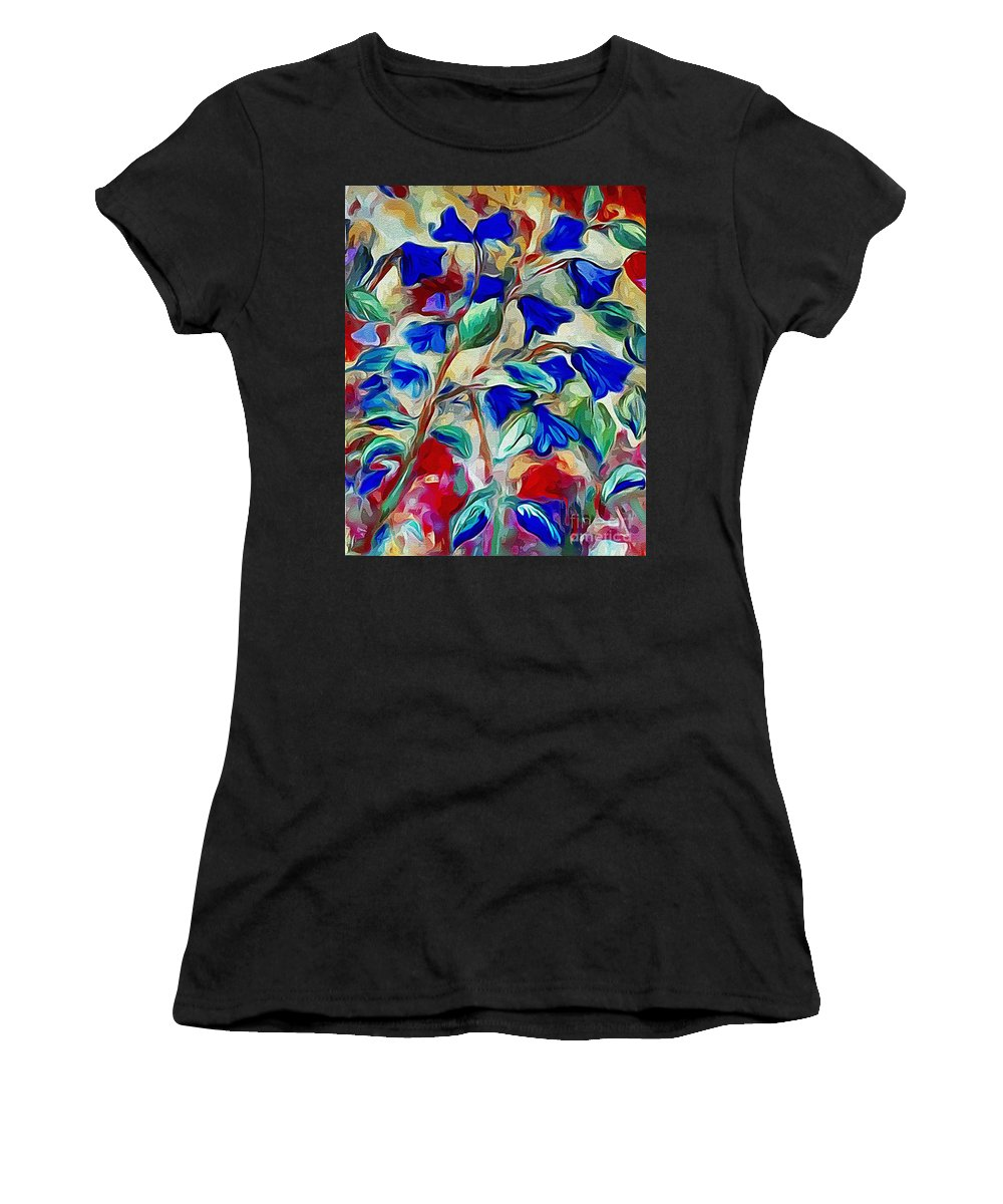 Bluebell Women's T-Shirt featuring the painting Floral by Karen Harding