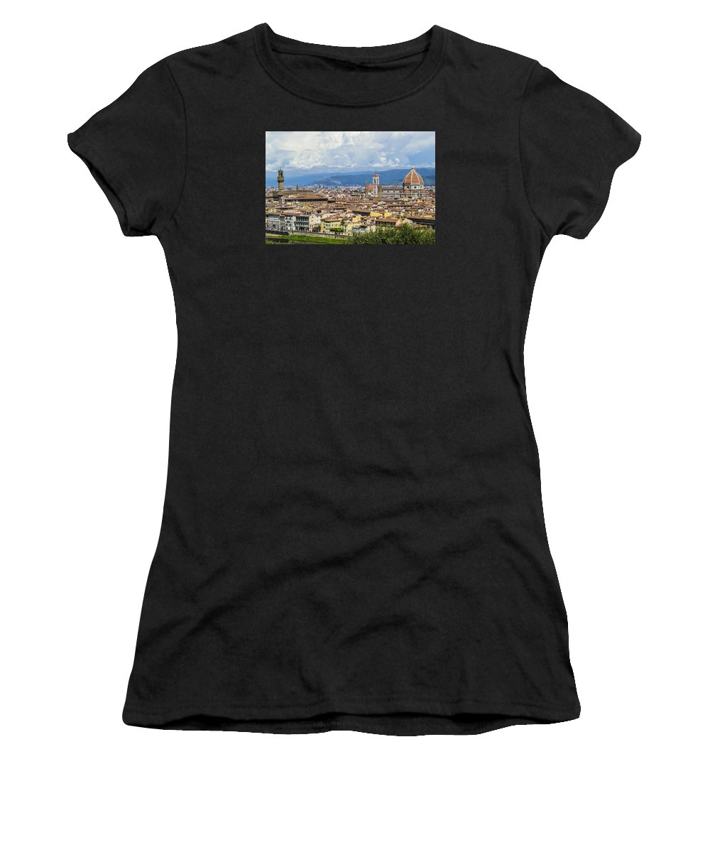 Florence Women's T-Shirt (Athletic Fit) featuring the photograph Florence by Ross Turiano