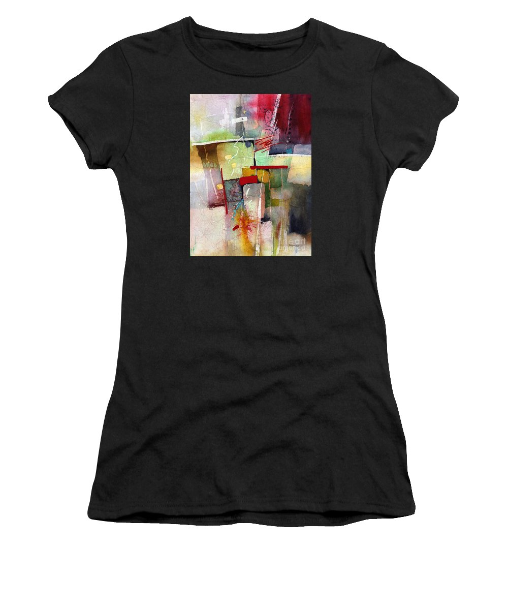 Abstract Women's T-Shirt (Athletic Fit) featuring the painting Florid Dream by Hailey E Herrera