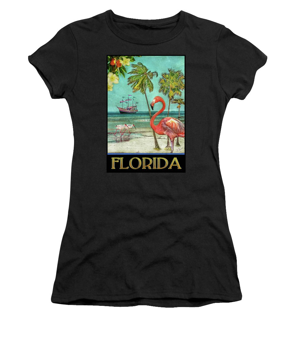 Florida Women's T-Shirt (Athletic Fit) featuring the photograph Florida Advertisement by Hanny Heim