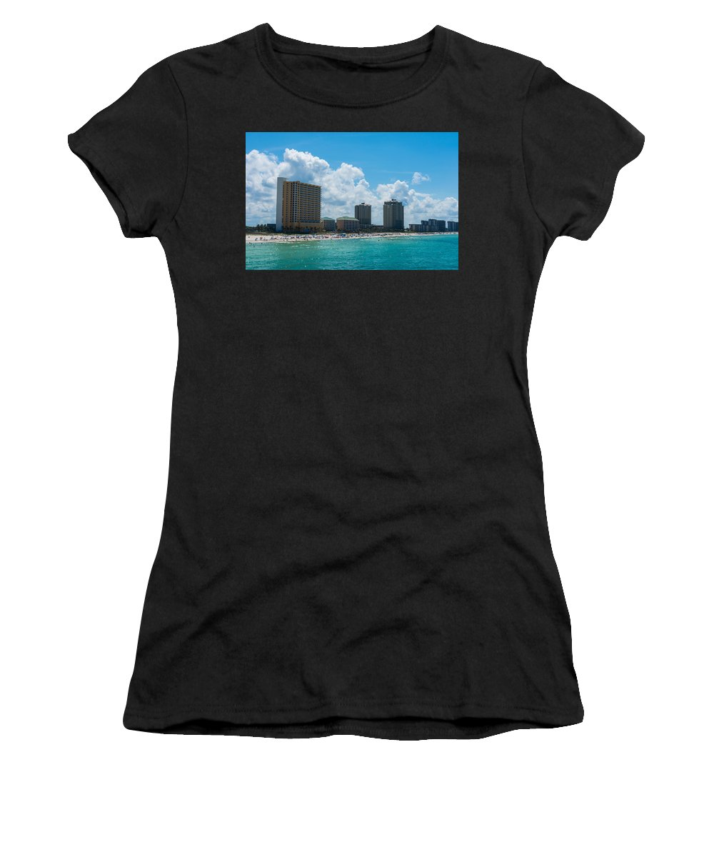 Florida Women's T-Shirt (Athletic Fit) featuring the photograph Florida Beach Panama City by Shane Seymour